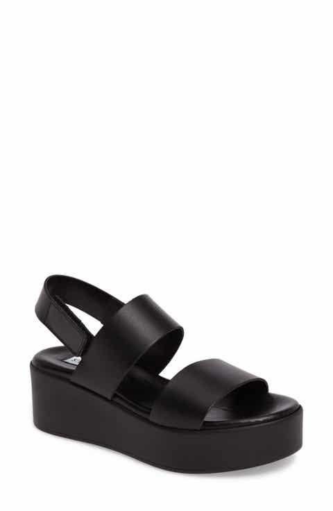 Women S Black Wedge Sandals Nordstrom