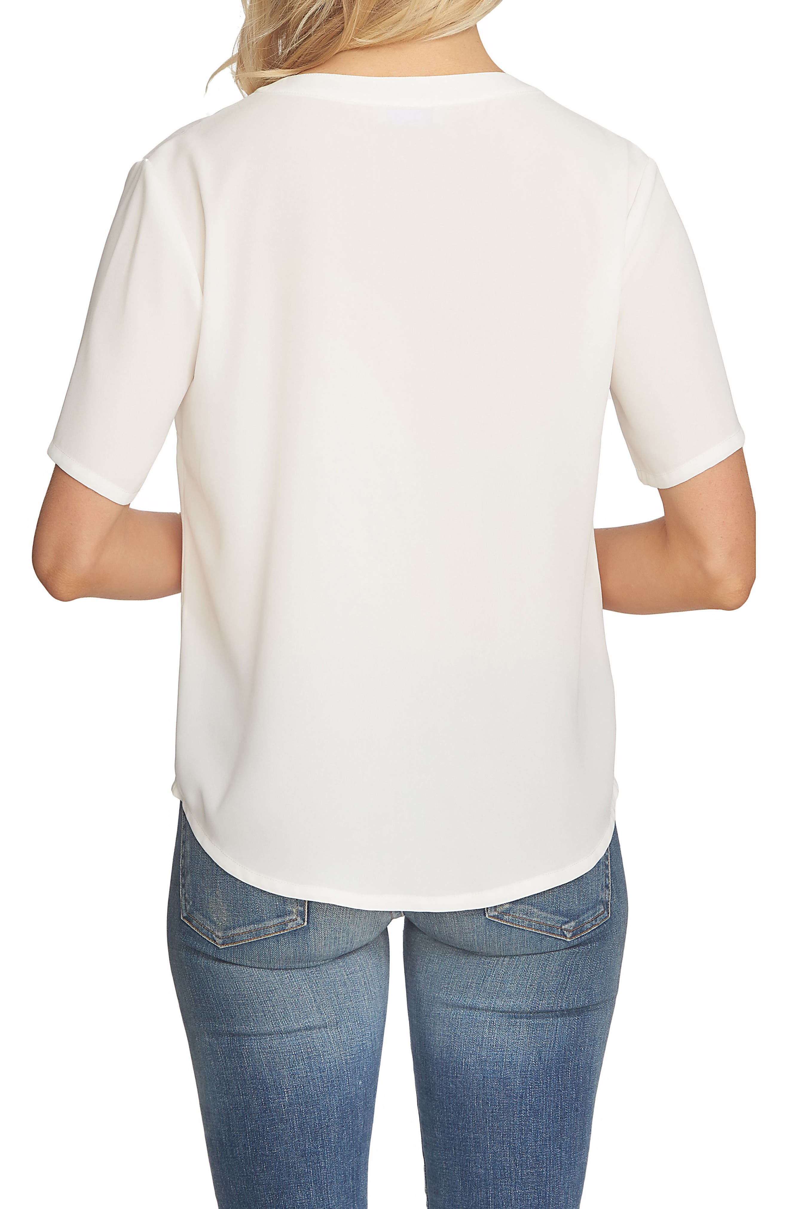 Alternate Image 2  - 1.STATE V-Neck Button Front Blouse