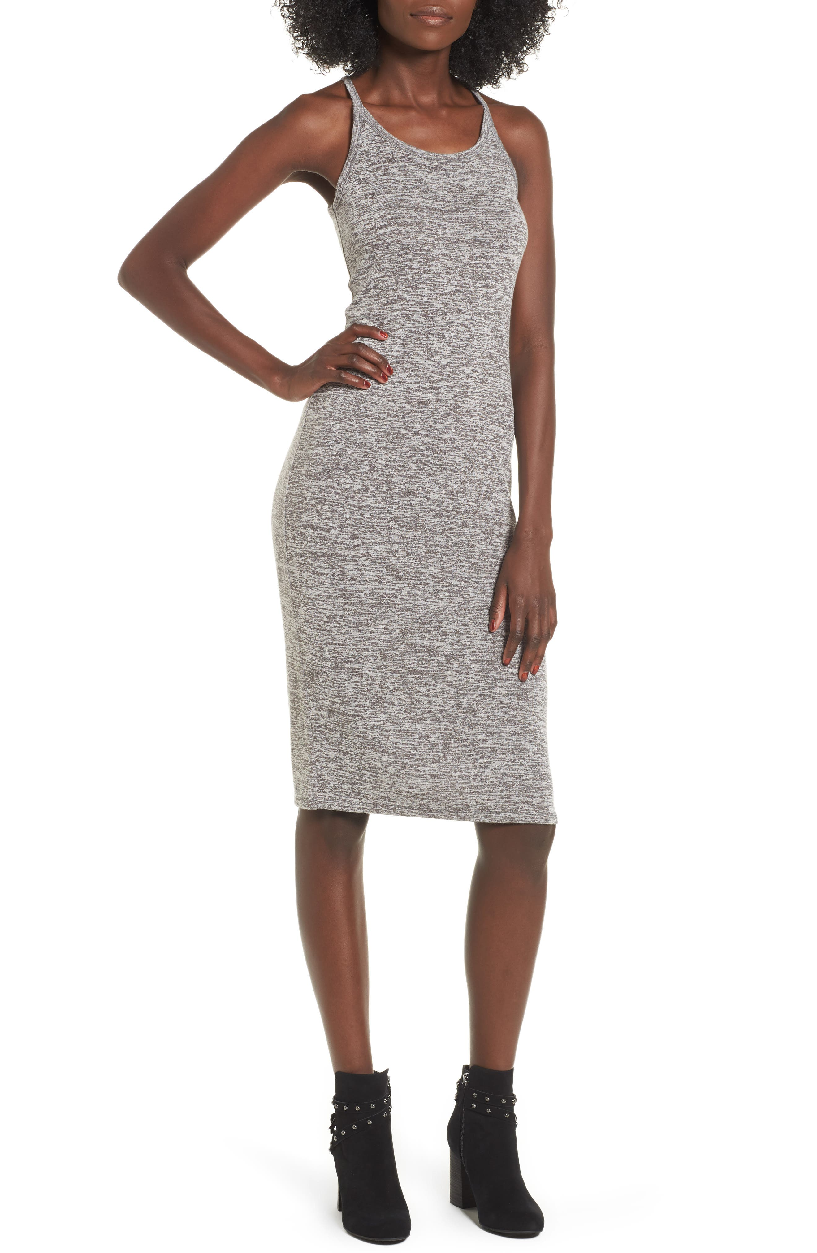 Leith Mélange Body-Con Dress