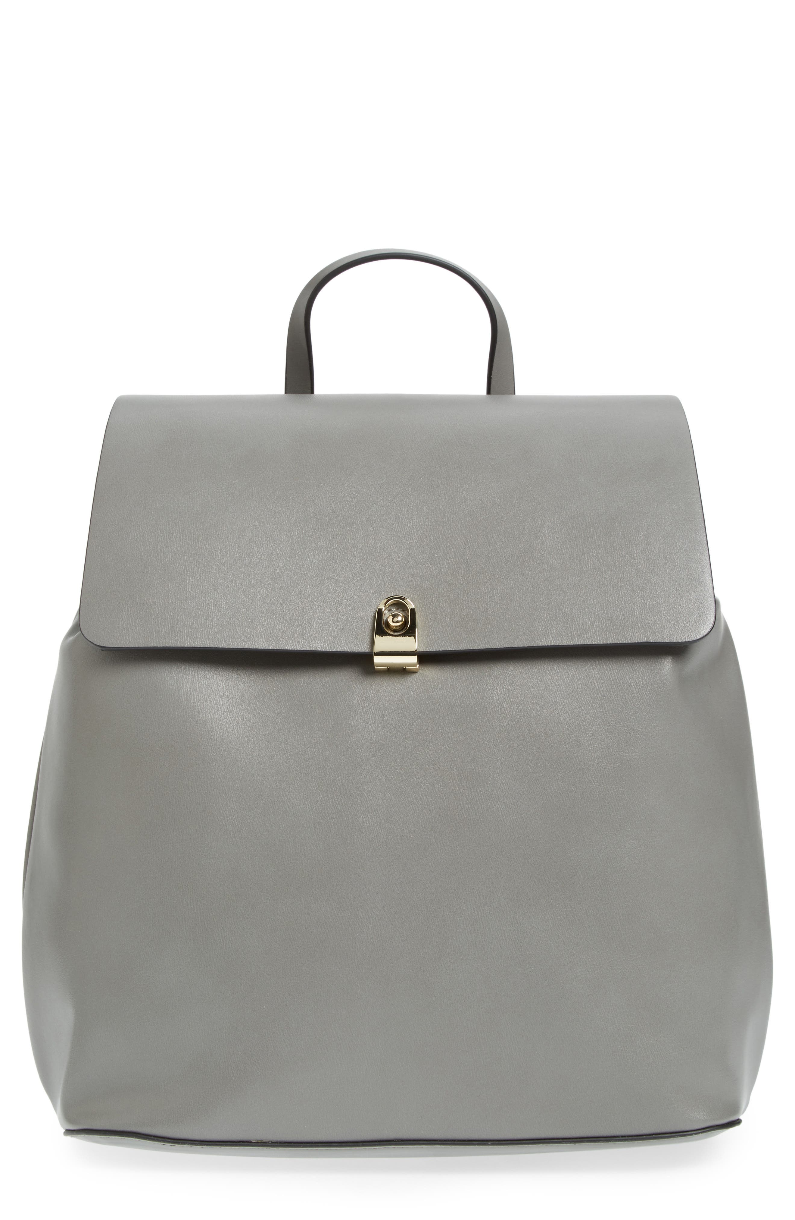 Alternate Image 1 Selected - Topshop Barnet Faux Leather Backpack
