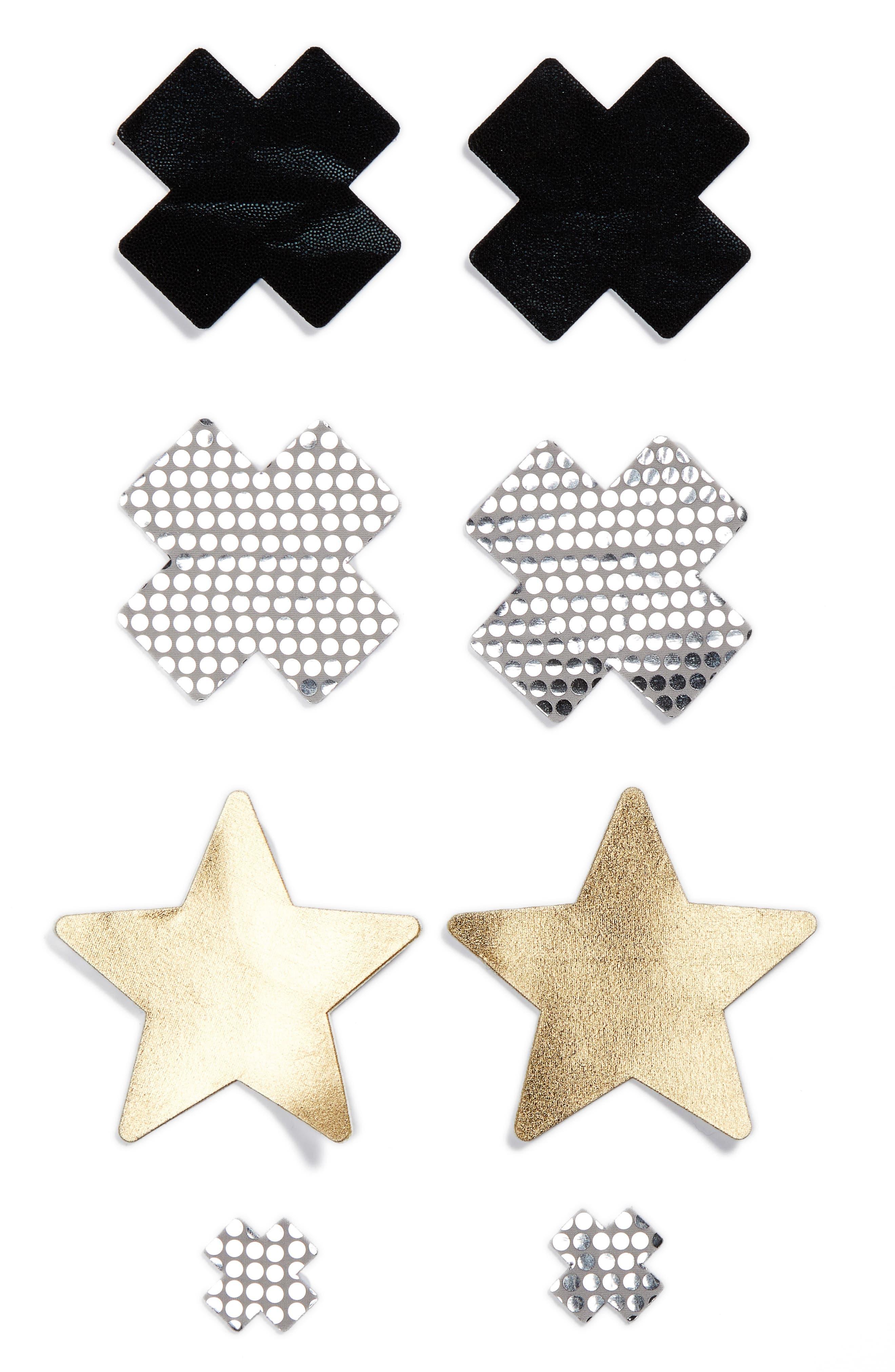 Nippies by Bristols Six Cross & Star Nipple Covers