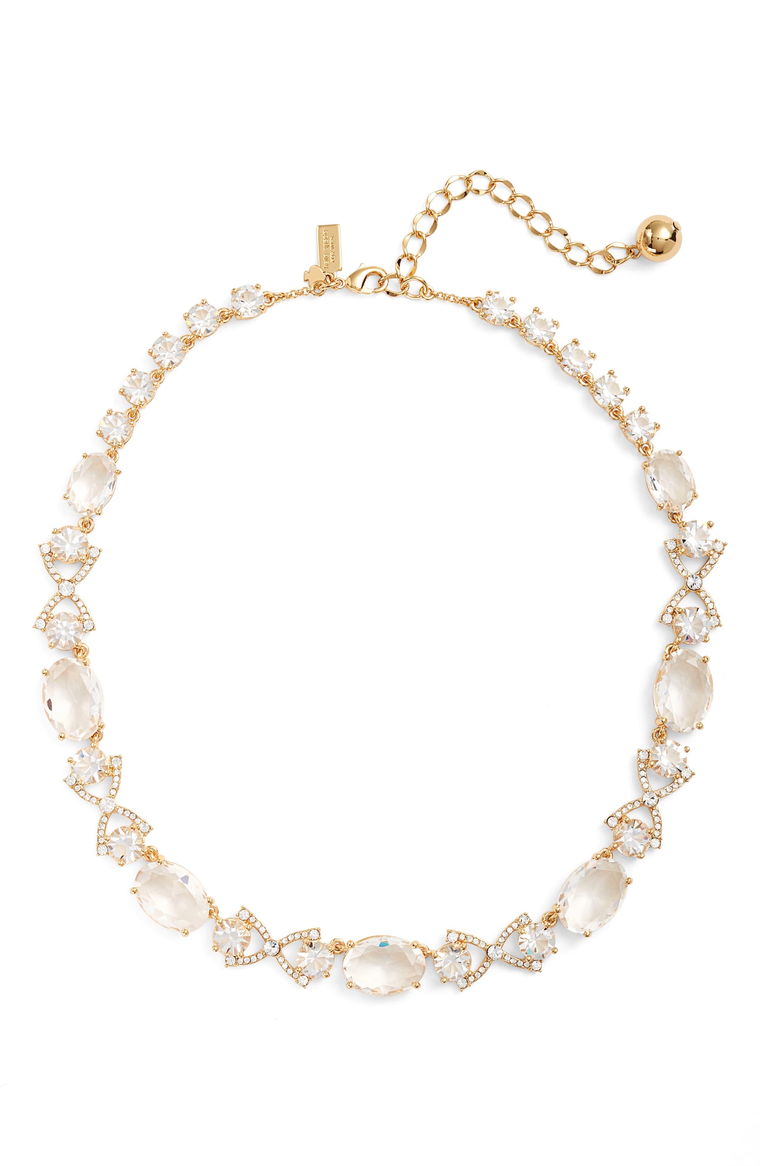 kate spade new york crystal collar necklace