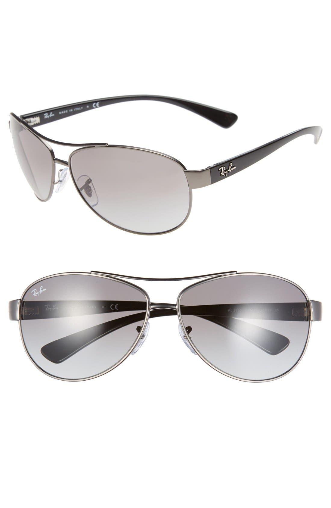 Alternate Image 1 Selected - Ray-Ban 'Bubble Wrap' 63mm Aviator Sunglasses
