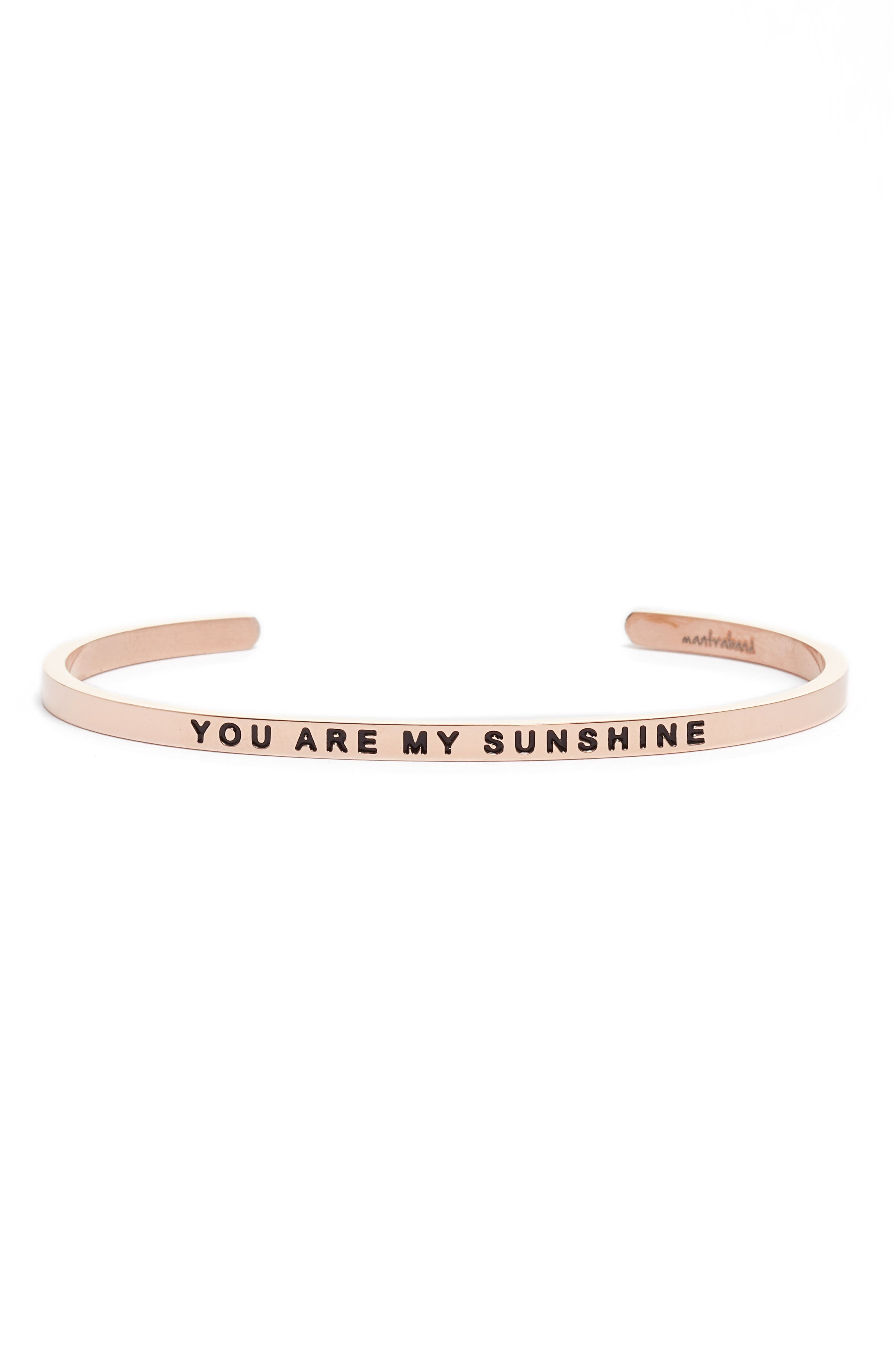 Alternate Image 1 Selected - MantraBand You Are My Sunshine Engraved Cuff