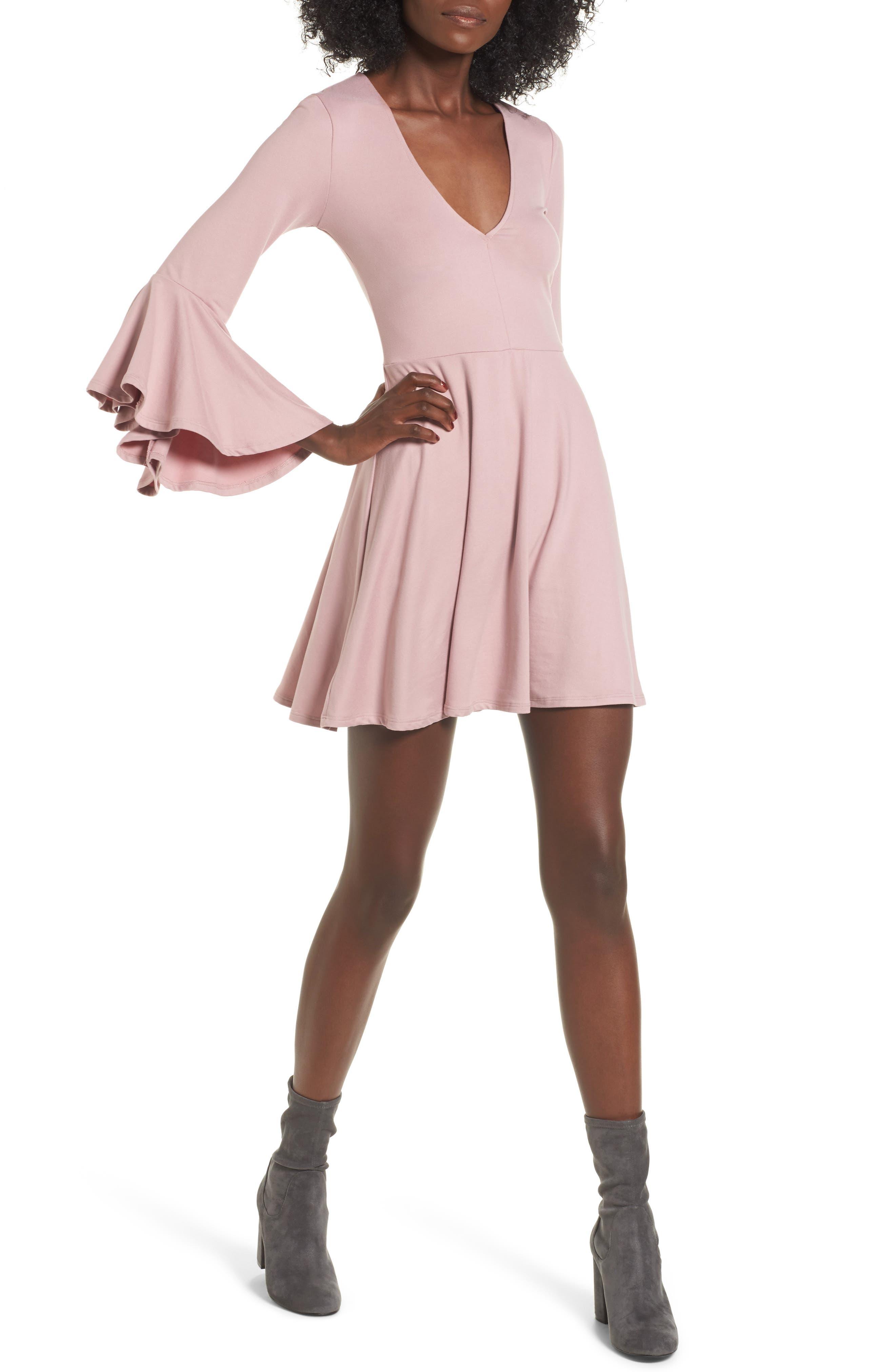 Main Image - Socialite Bell Sleeve Knit Dress