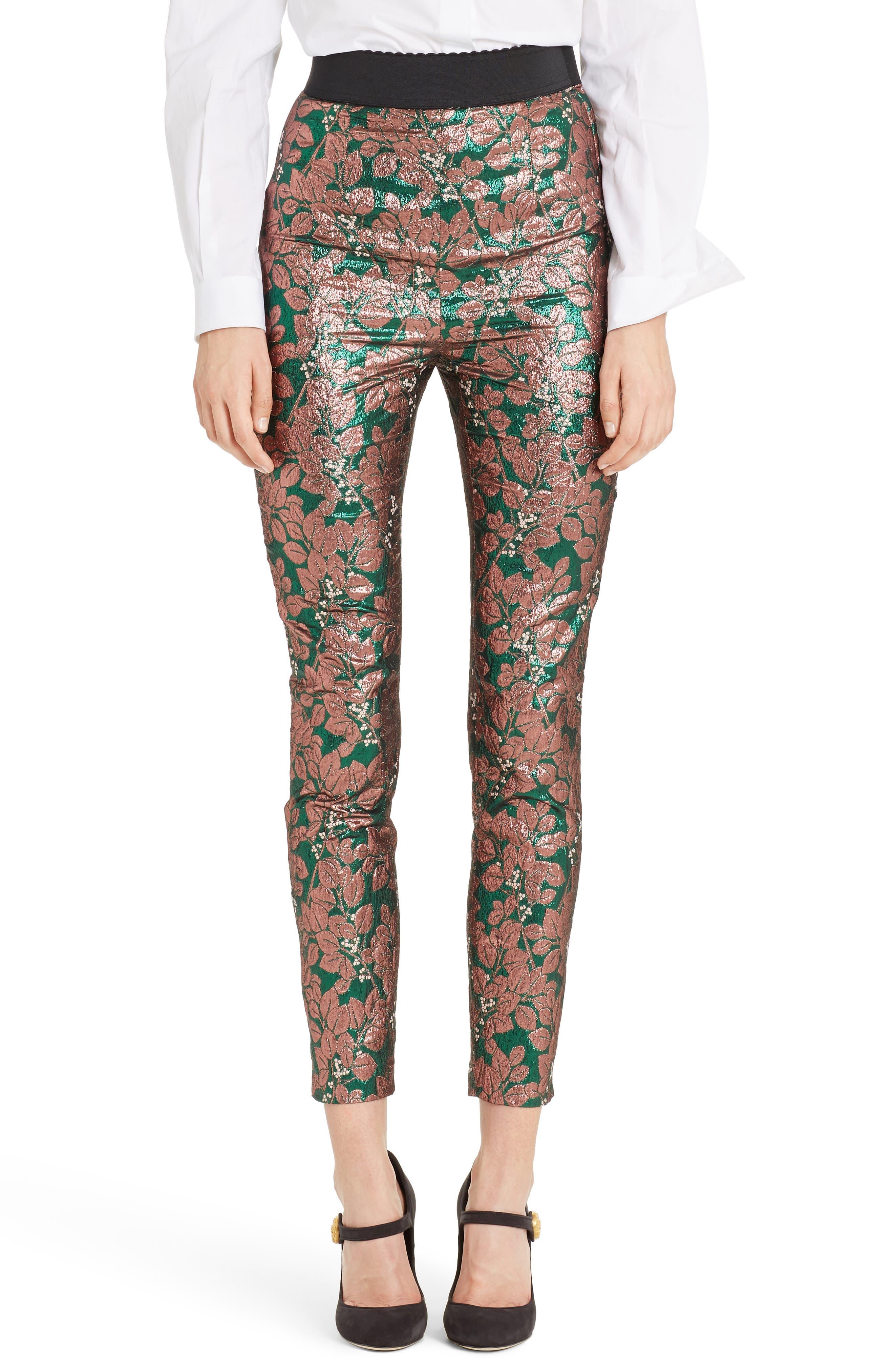 Dolce&Gabbana Metallic Jacquard Leggings