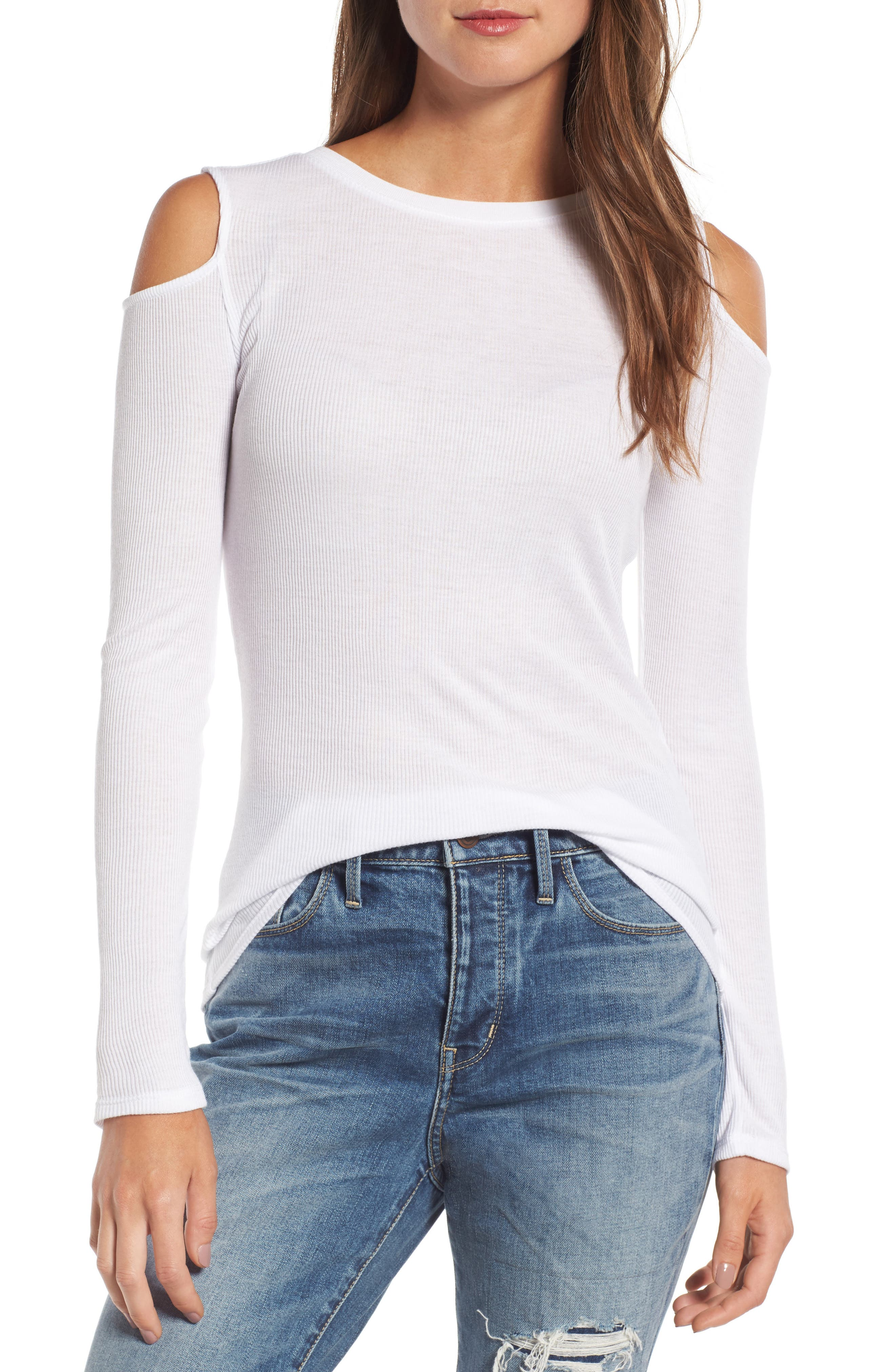 Treasure & Bond Cold Shoulder Tee