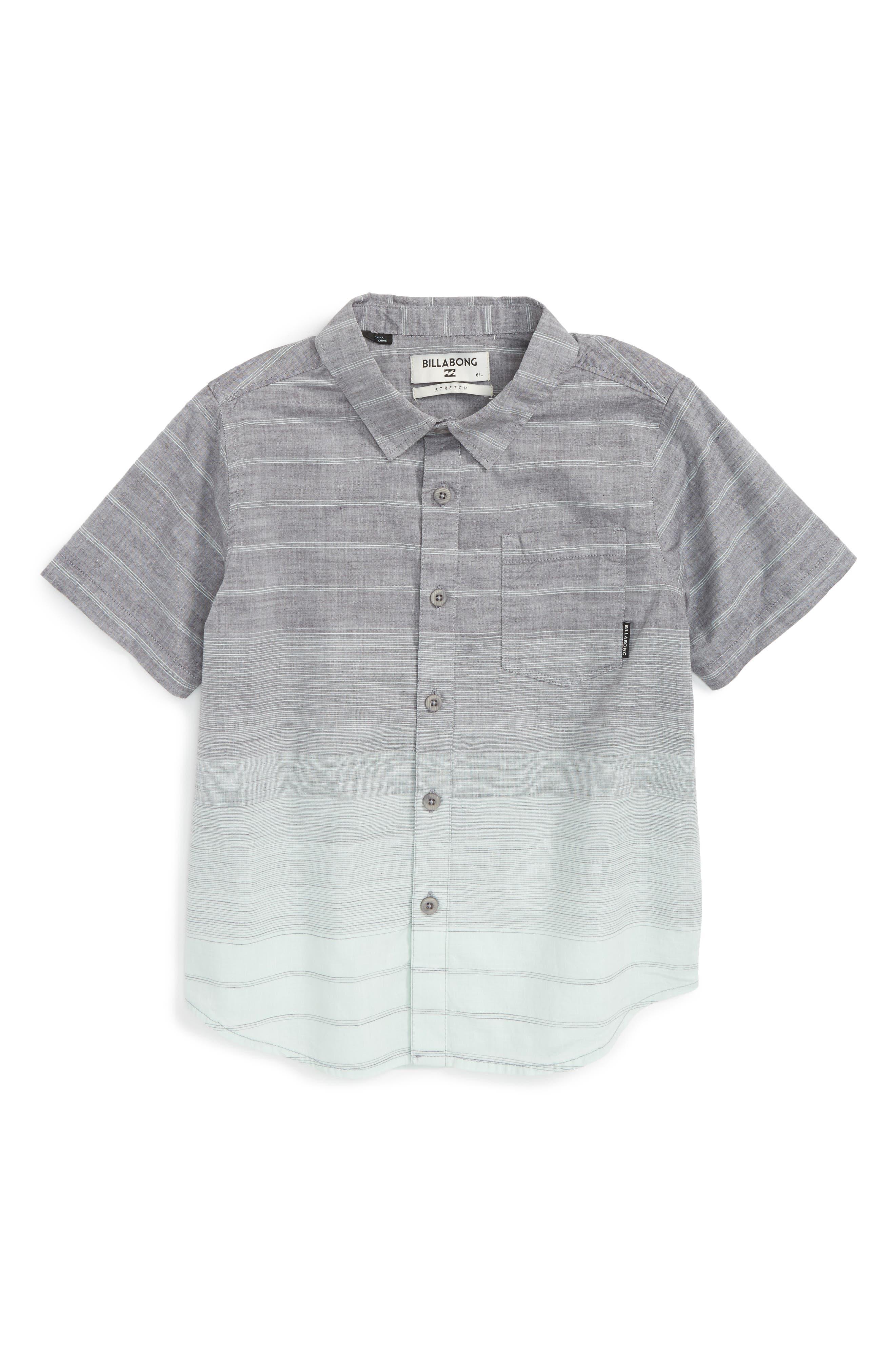 Billabong Faderade Short Sleeve Woven Shirt (Toddler Boys, Little Boys & Big Boys)