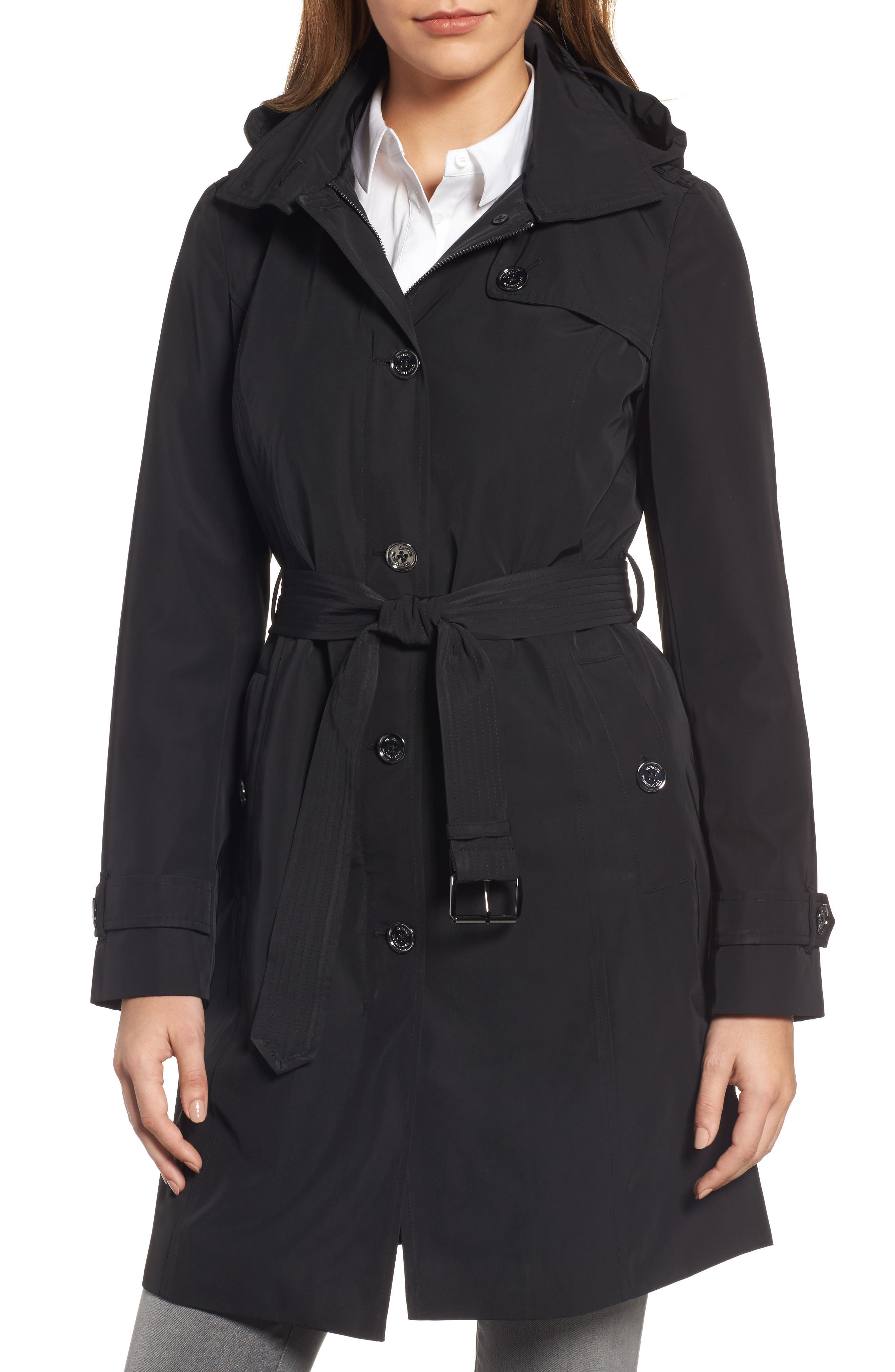 MICHAEL Michael Kors Packable Trench Coat with Hood