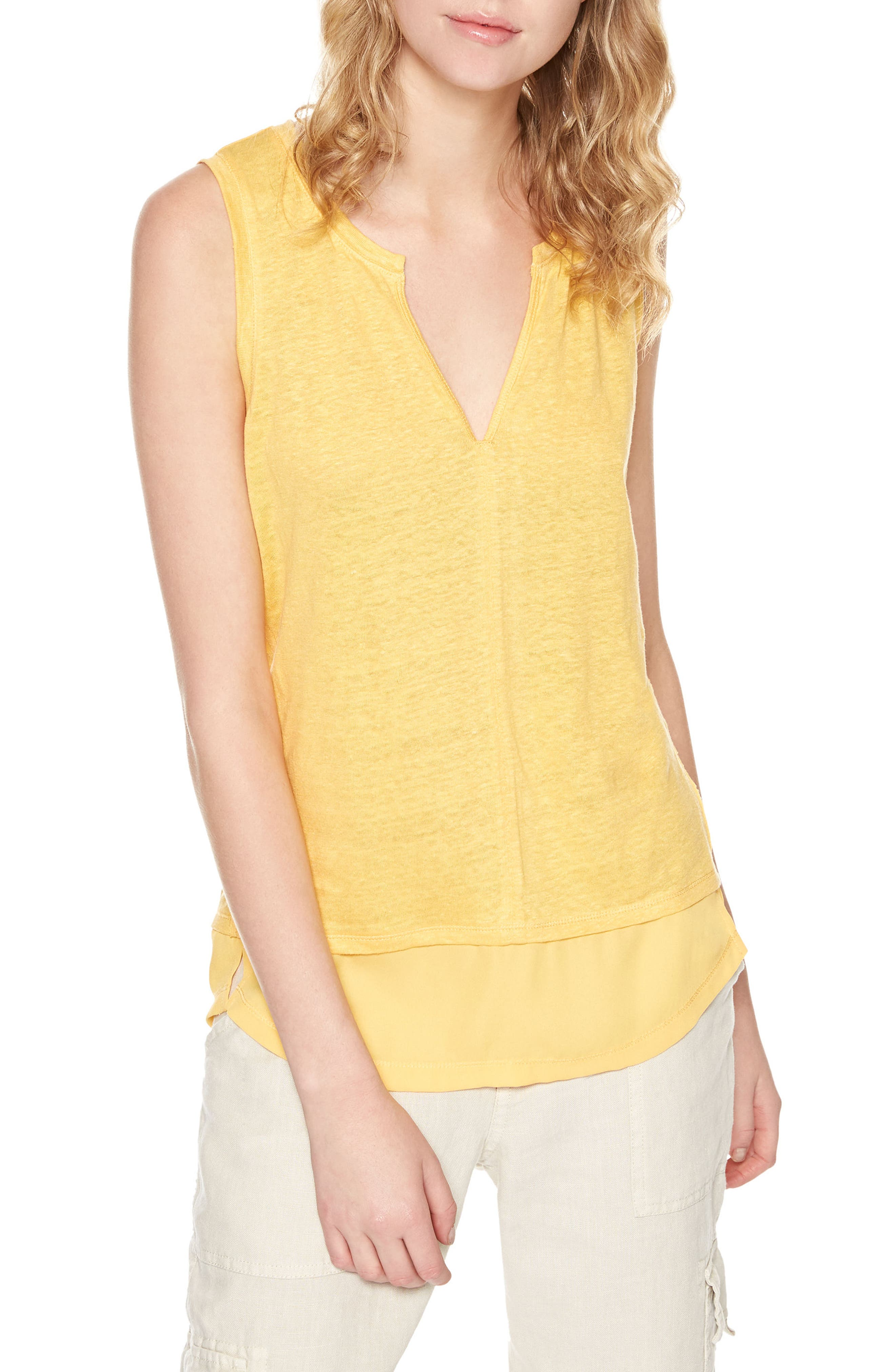 Sanctuary City Linen Knit Tank