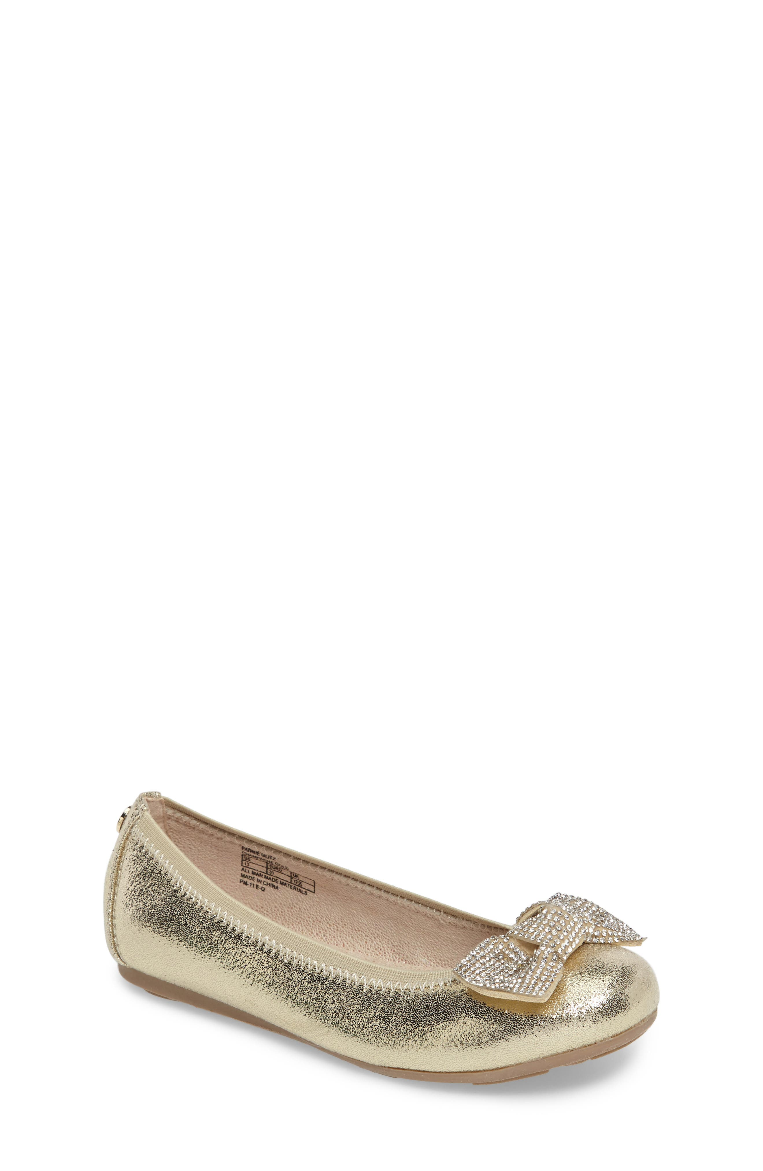 Stuart Weitzman Fannie Glitz Ballet Flat (Toddler, Little Kid & Big Kid)