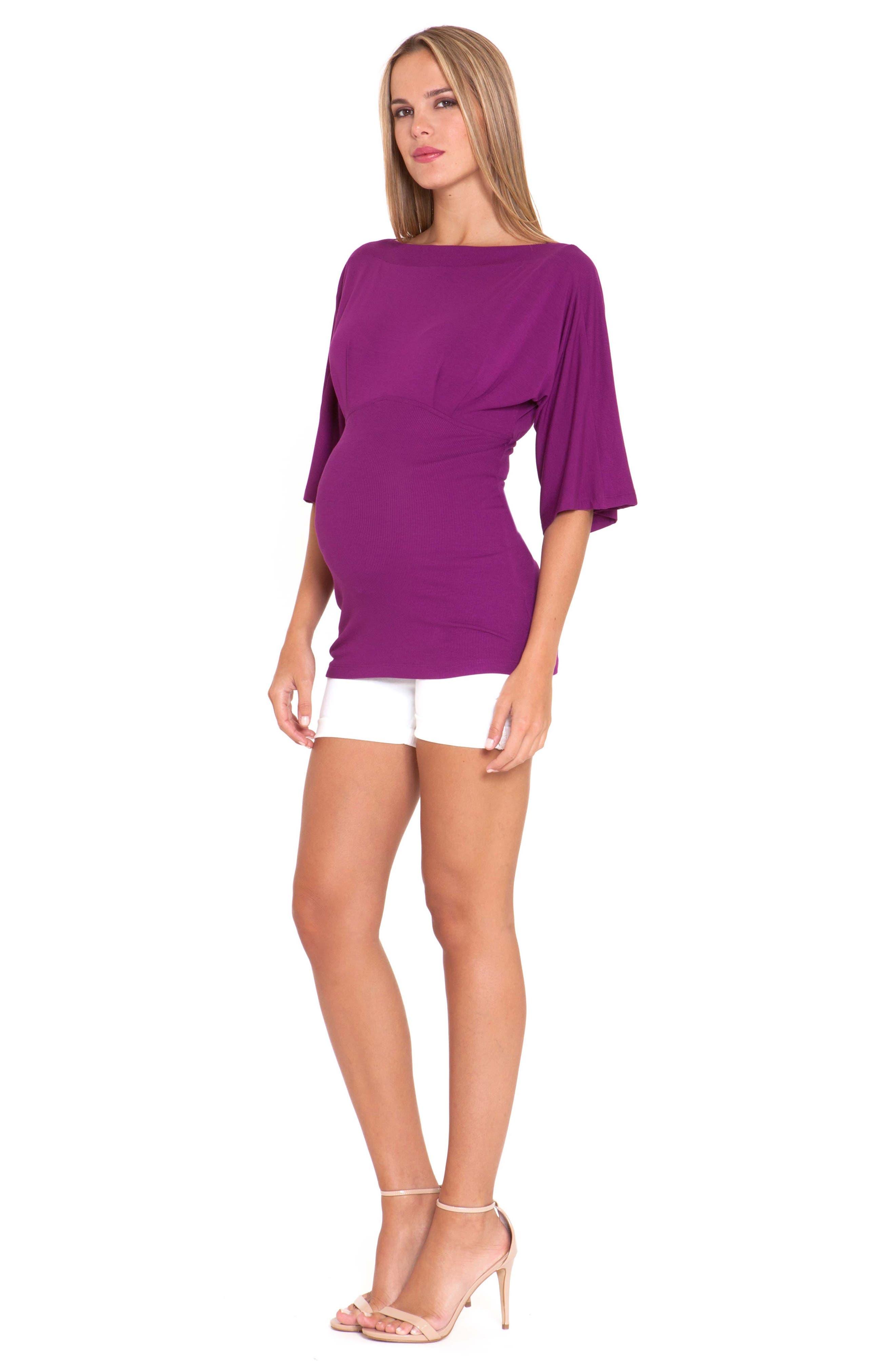 Alternate Image 2  - Olian Denim Maternity Shorts