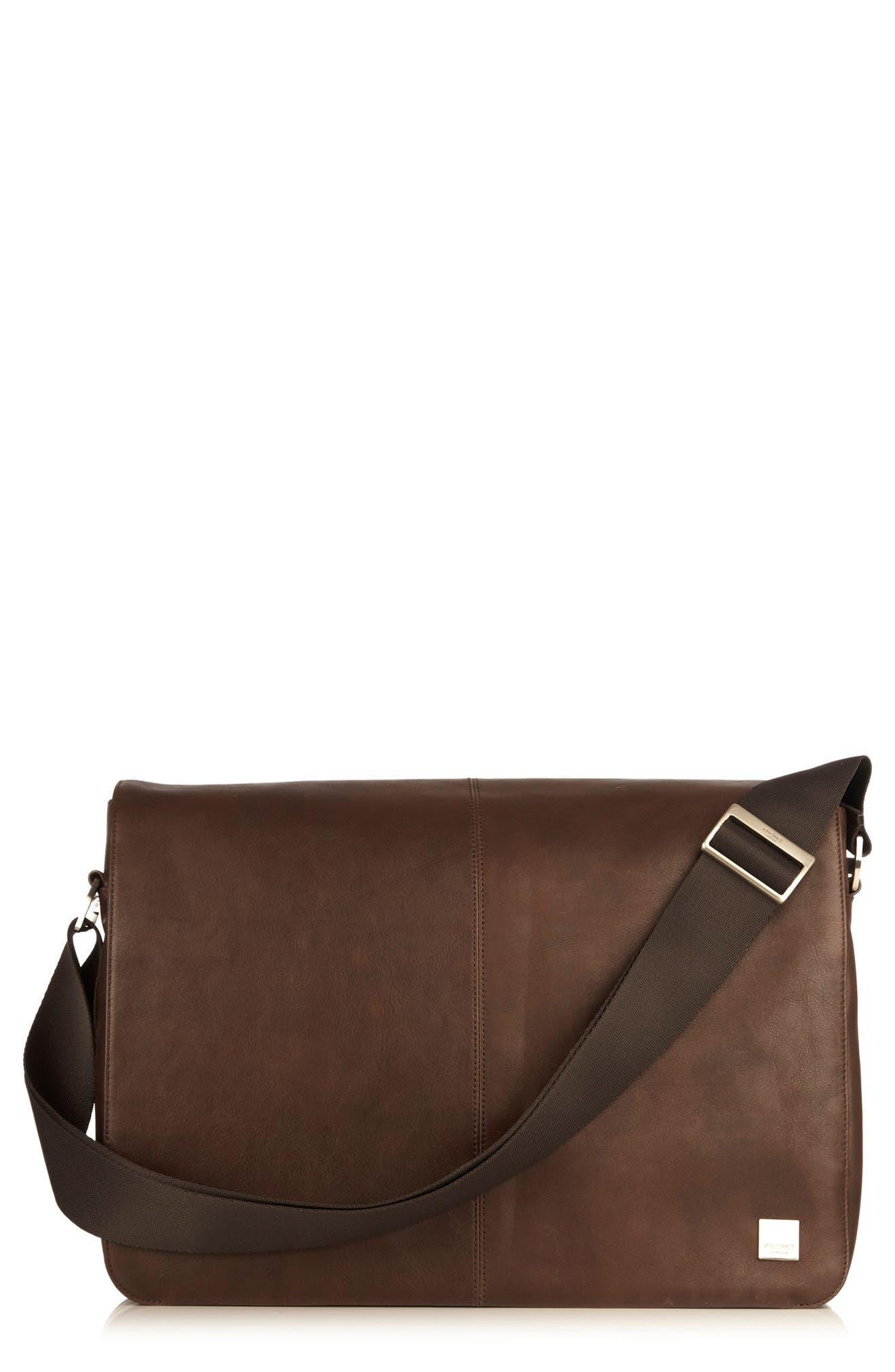 KNOMO London Brompton Bungo RFID Leather Messenger Bag