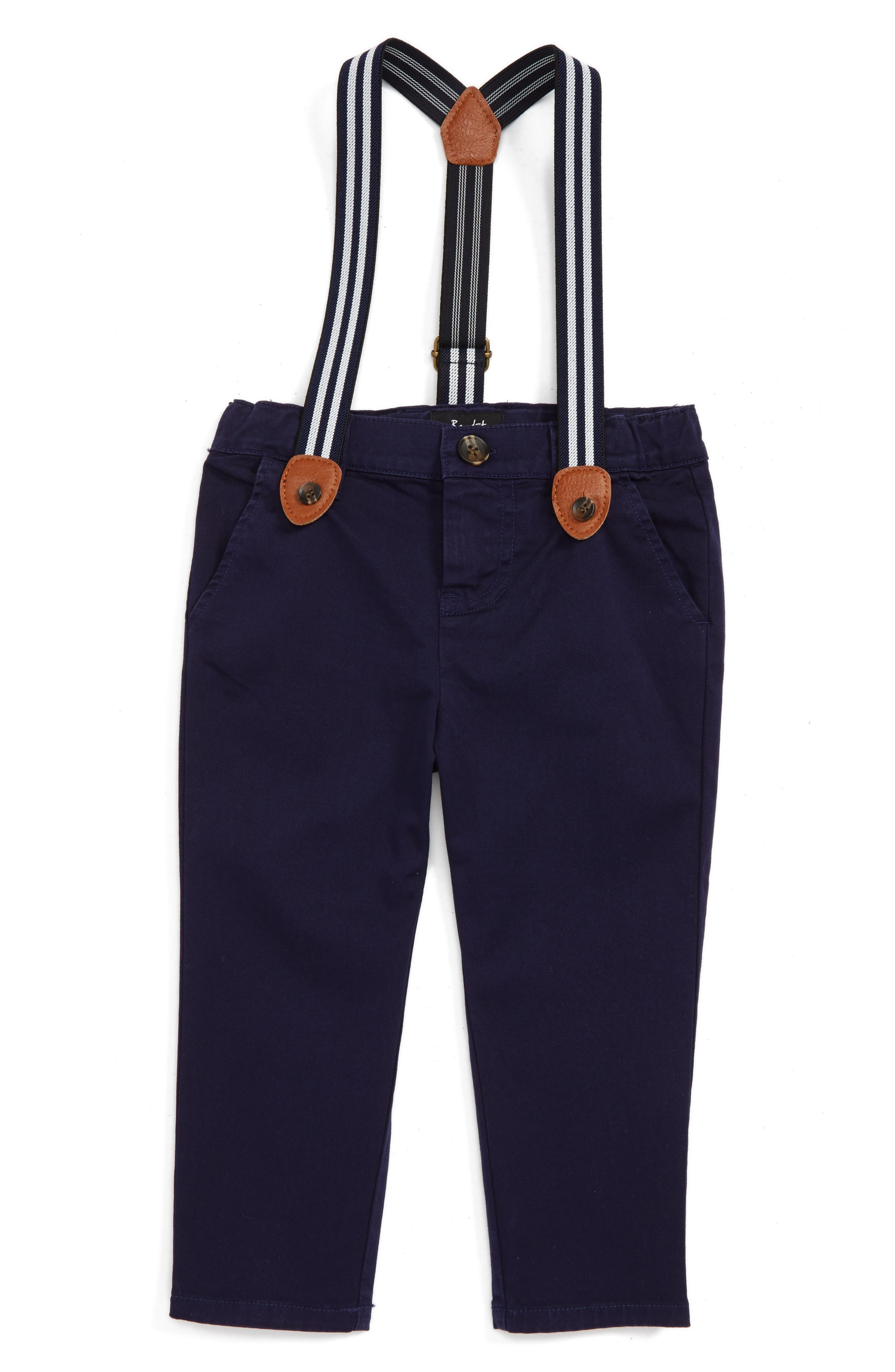 Bardost Junior Chino Pants & Suspenders Set (Baby Boys & Toddler Boys)
