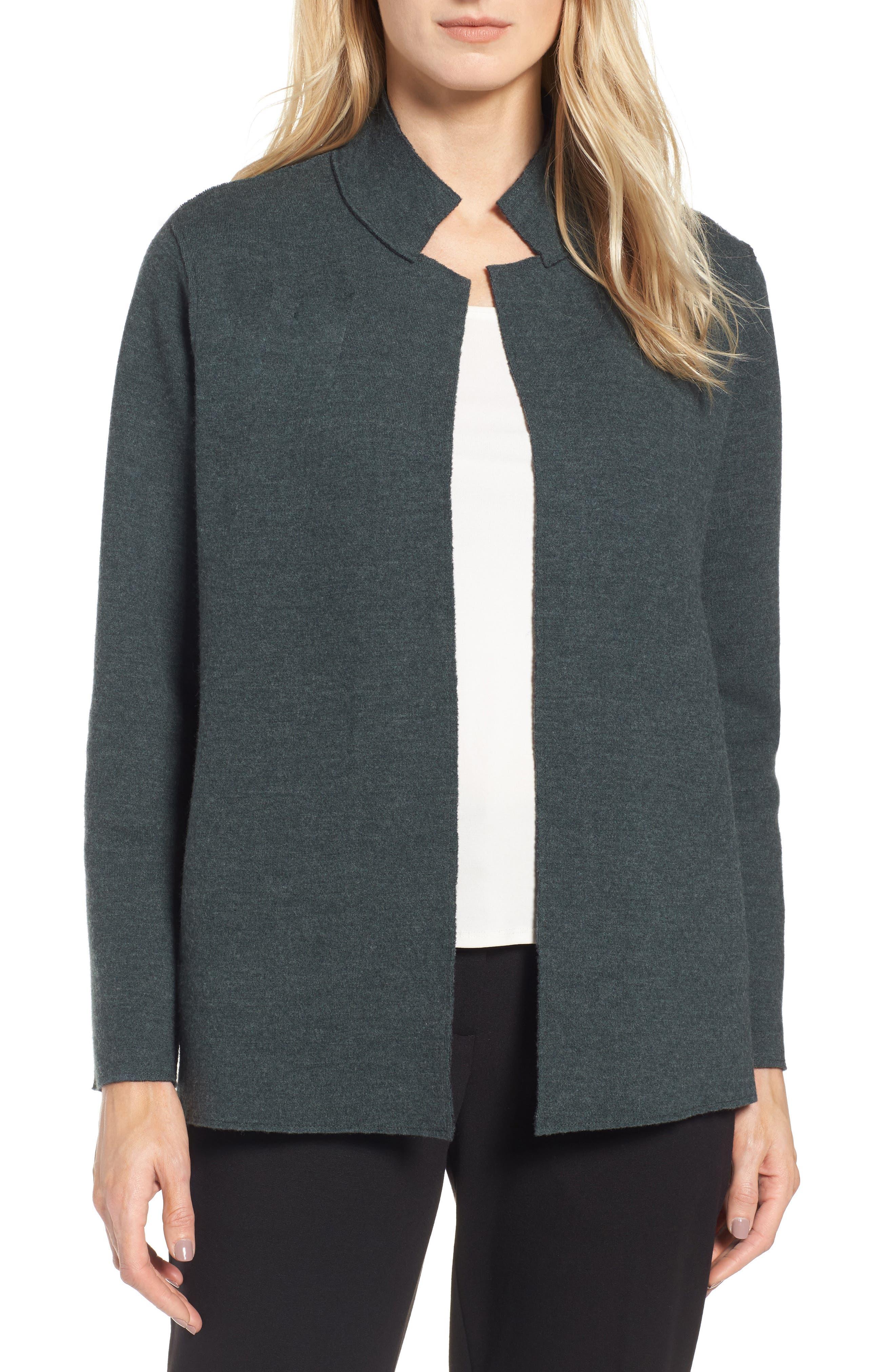Eileen Fisher Merino Wool Blend Jacket (Regular & Petite)