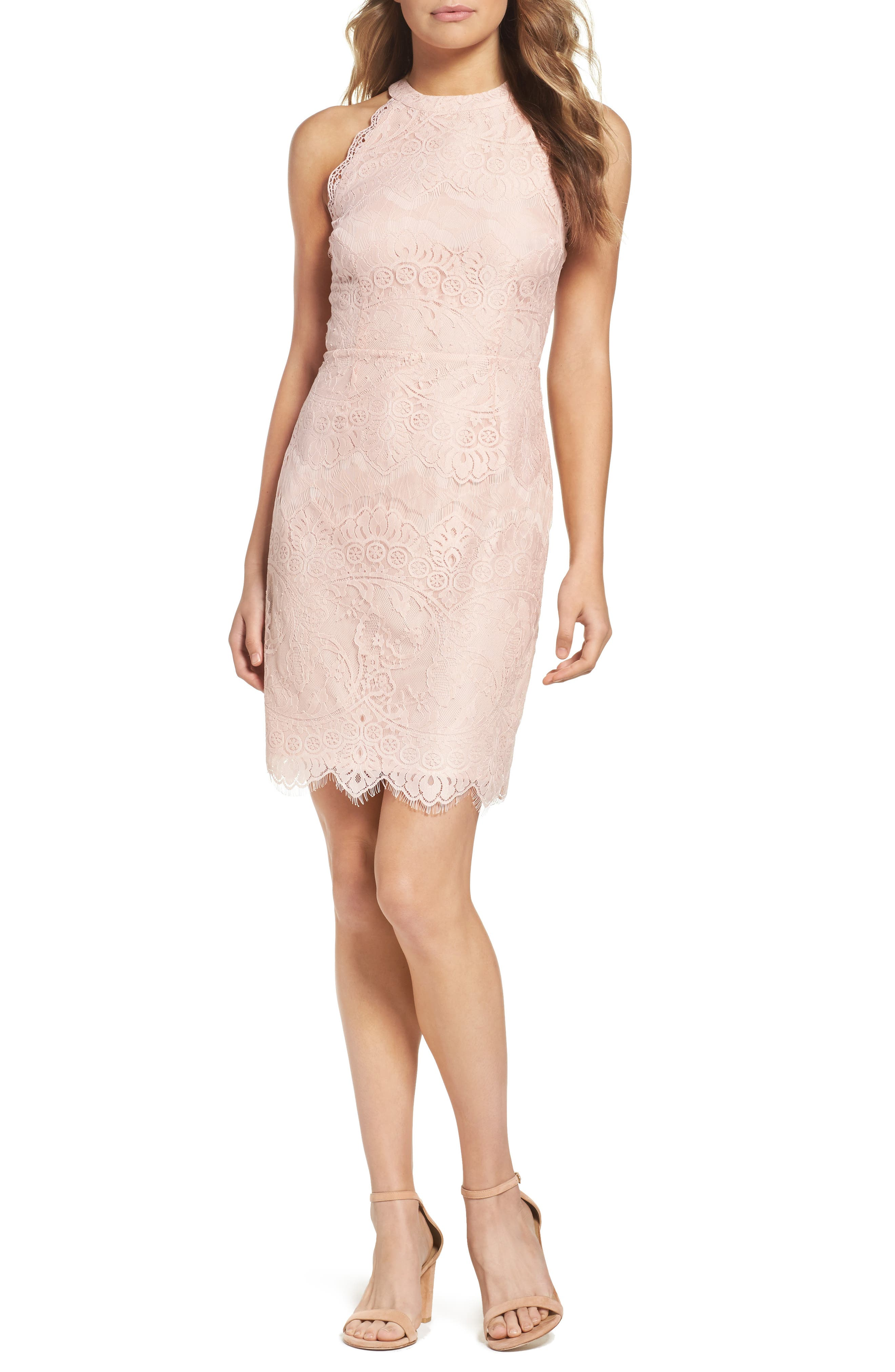 BB Dakota Josie Lace Sheath Dress