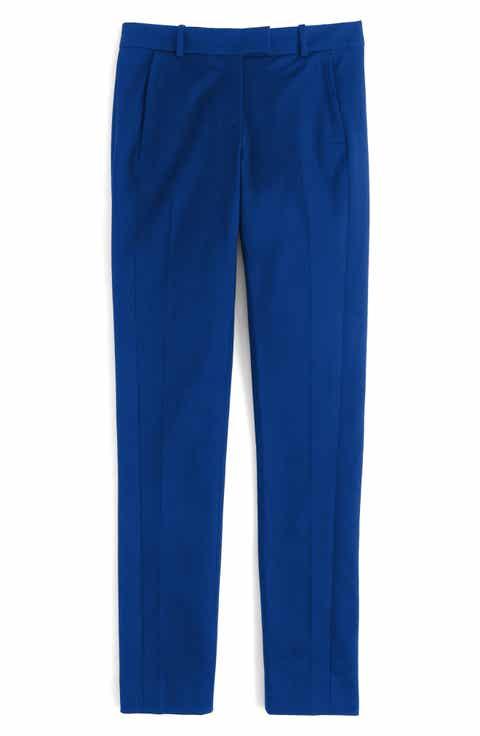 J.Crew Maddie Bi-Stretch Cotton Pants (Regular   Petite)
