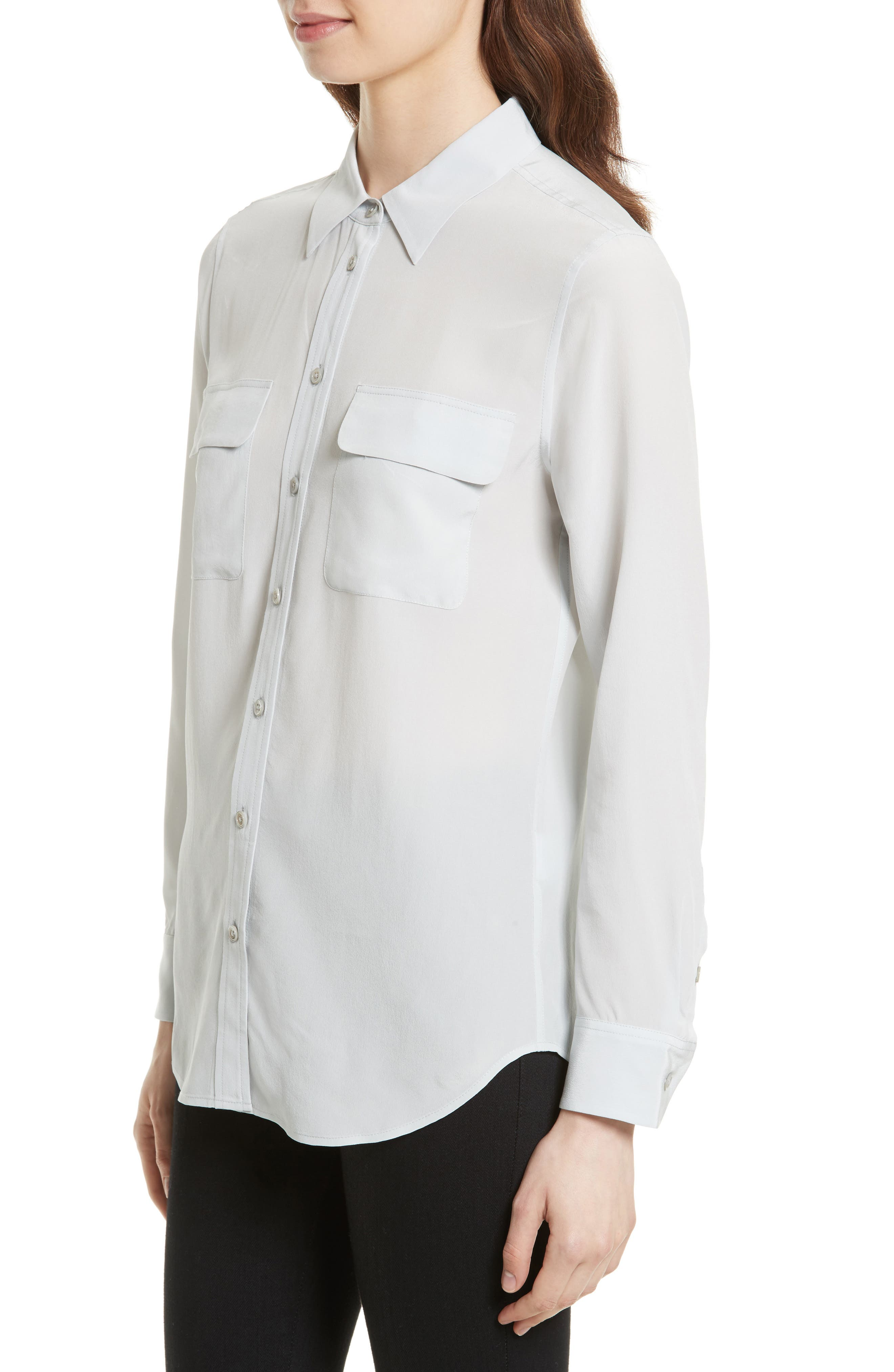 Alternate Image 3  - Equipment 'Slim Signature' Silk Shirt