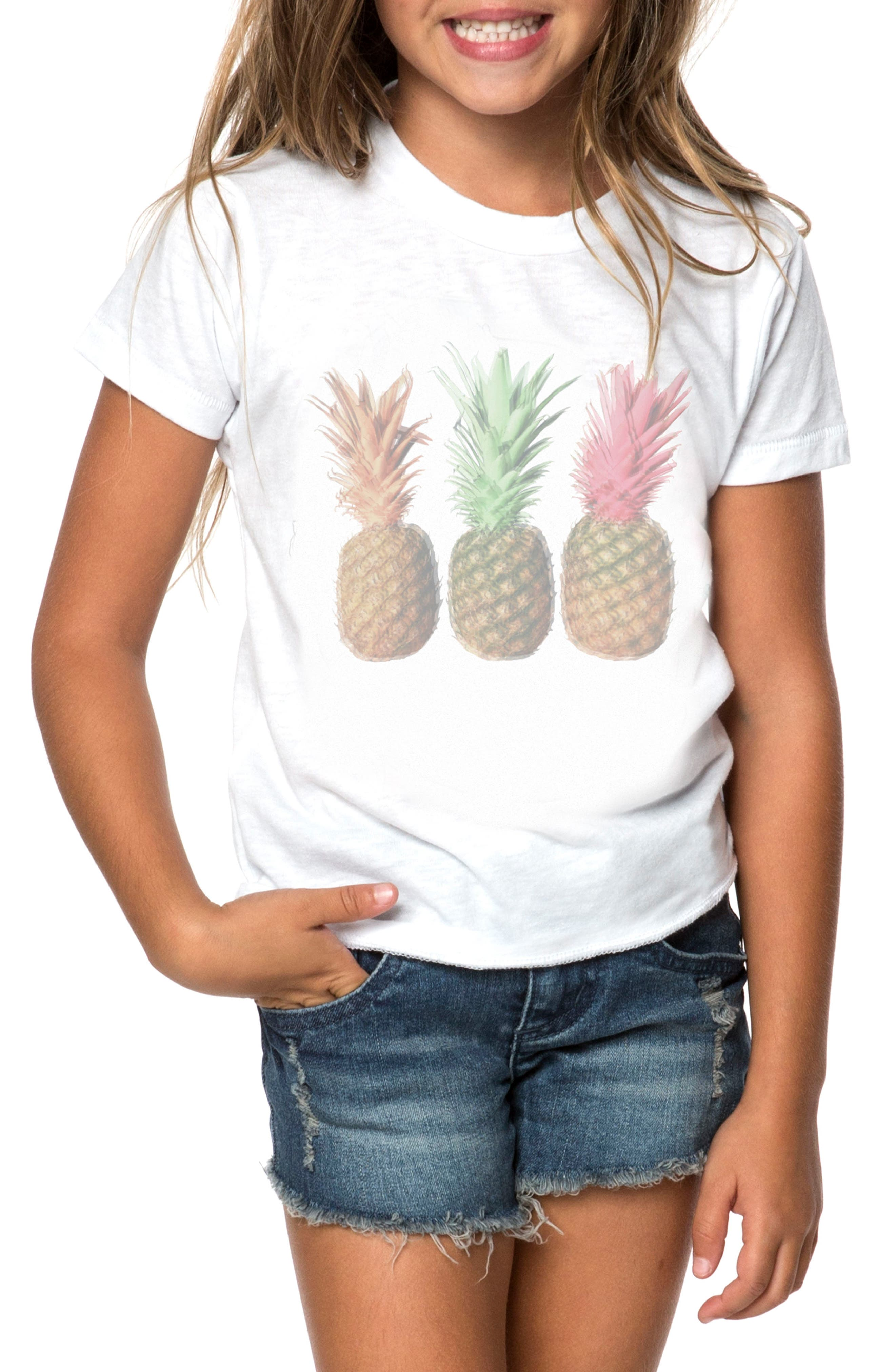 O'Neill Atomic Pineapple Graphic Tee (Toddler Girls & Little Girls)