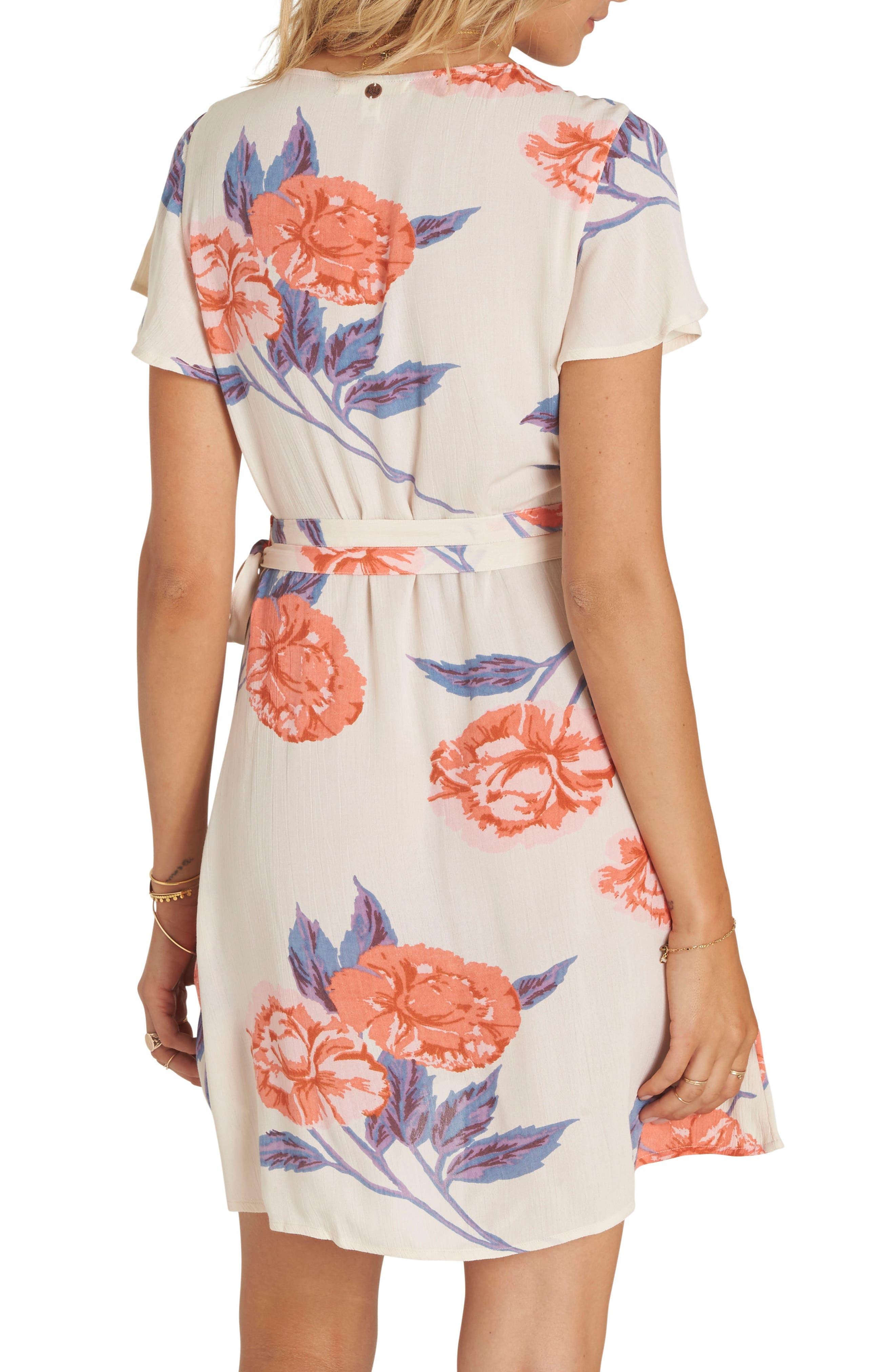 Alternate Image 2  - Billabong Hold Me Tight Floral Print Wrap Dress