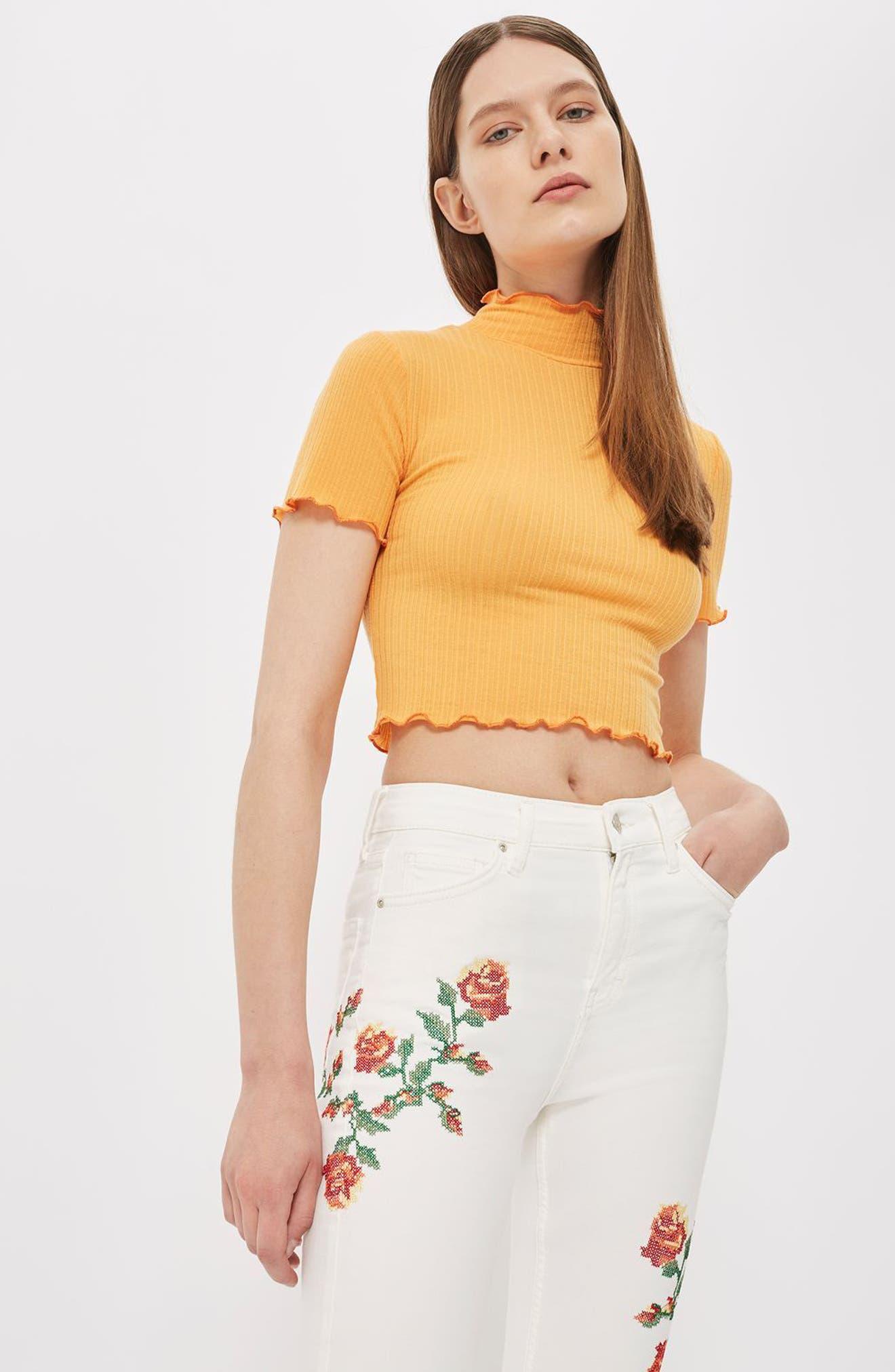 Alternate Image 2  - Topshop Jamie Embroidered Skinny Jeans (Regular & Petite)