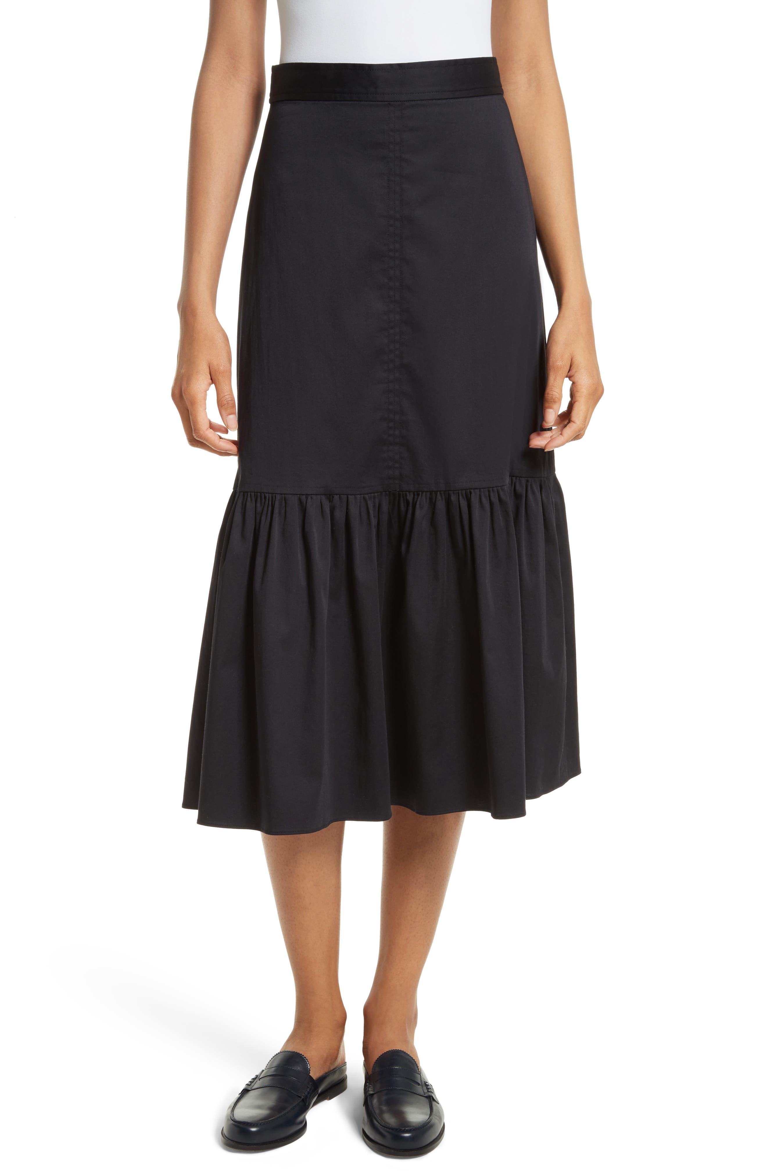 Rebecca Taylor Ruffled A-Line Skirt