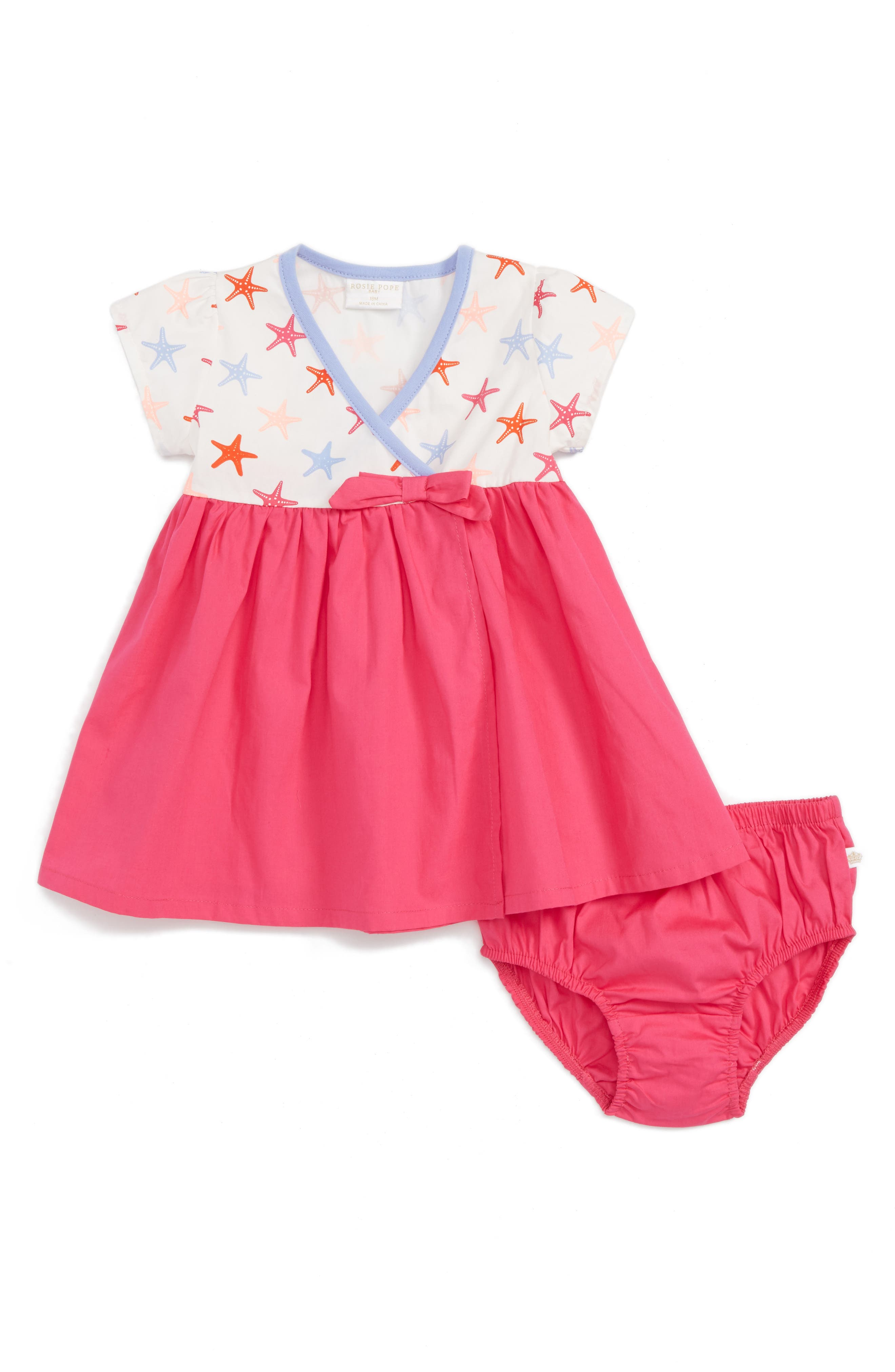 Rosie Pope Starfish Wrap Dress (Baby Girls)