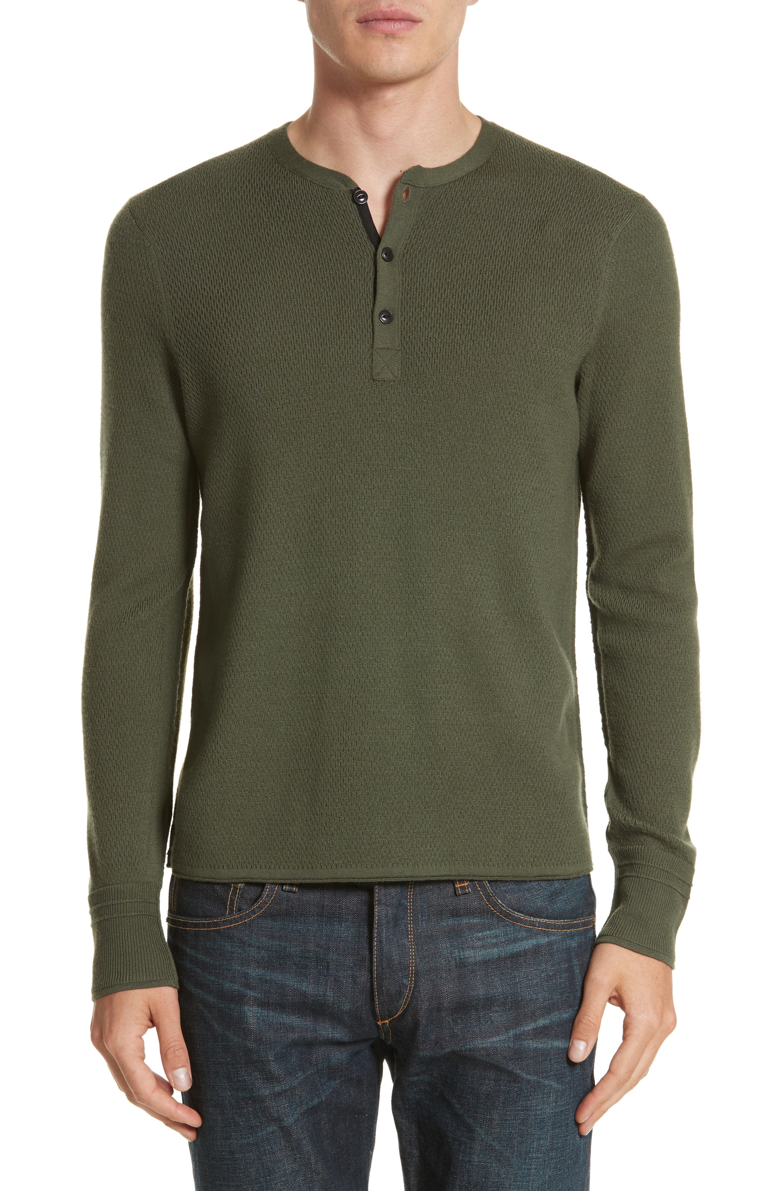 rag & bone Gregory Merino Wool Blend Henley