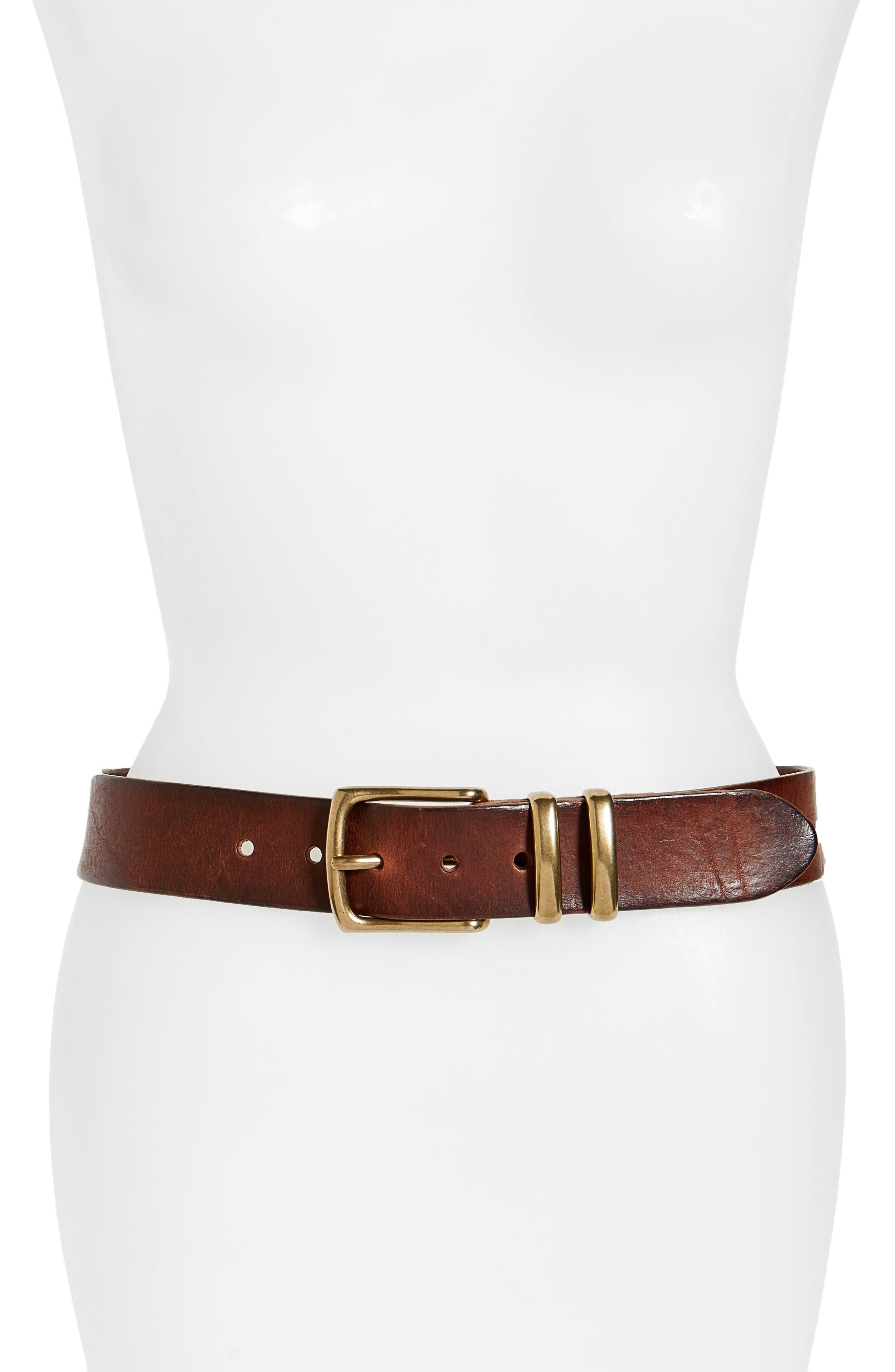 Frye Addison Leather Belt