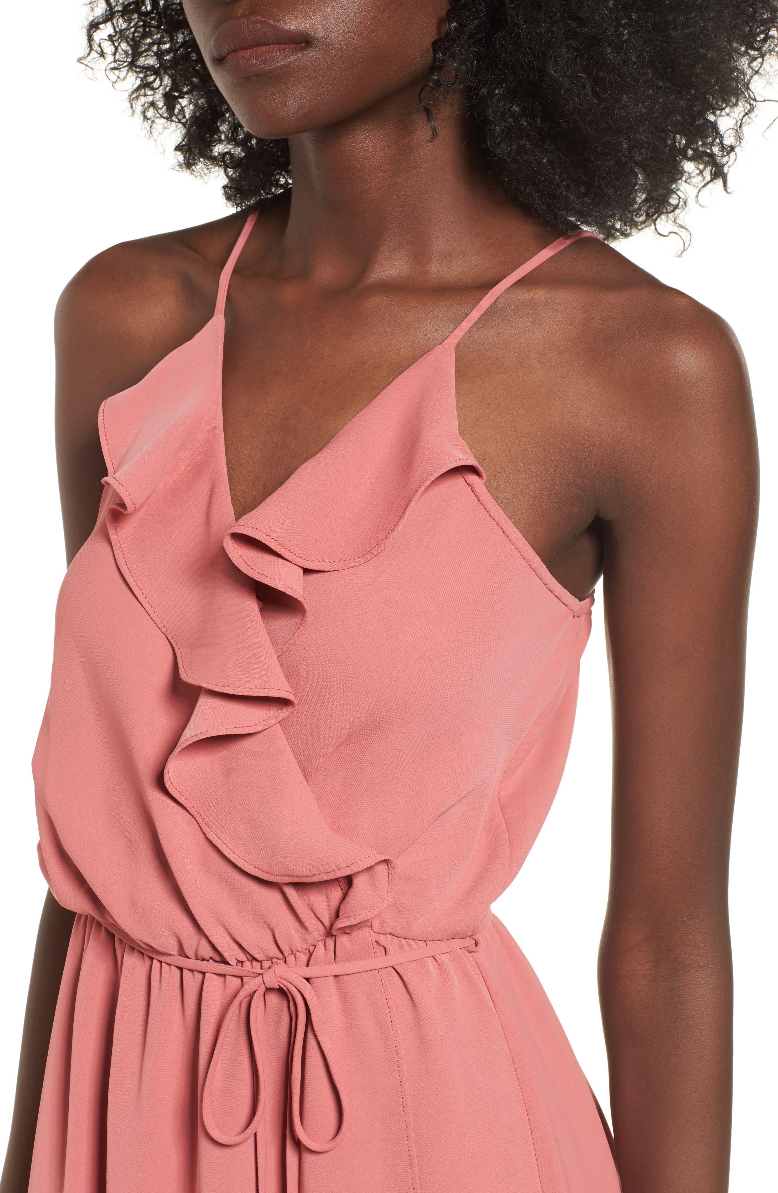 Alternate Image 4  - Everly Ruffle Wrap Maxi Dress