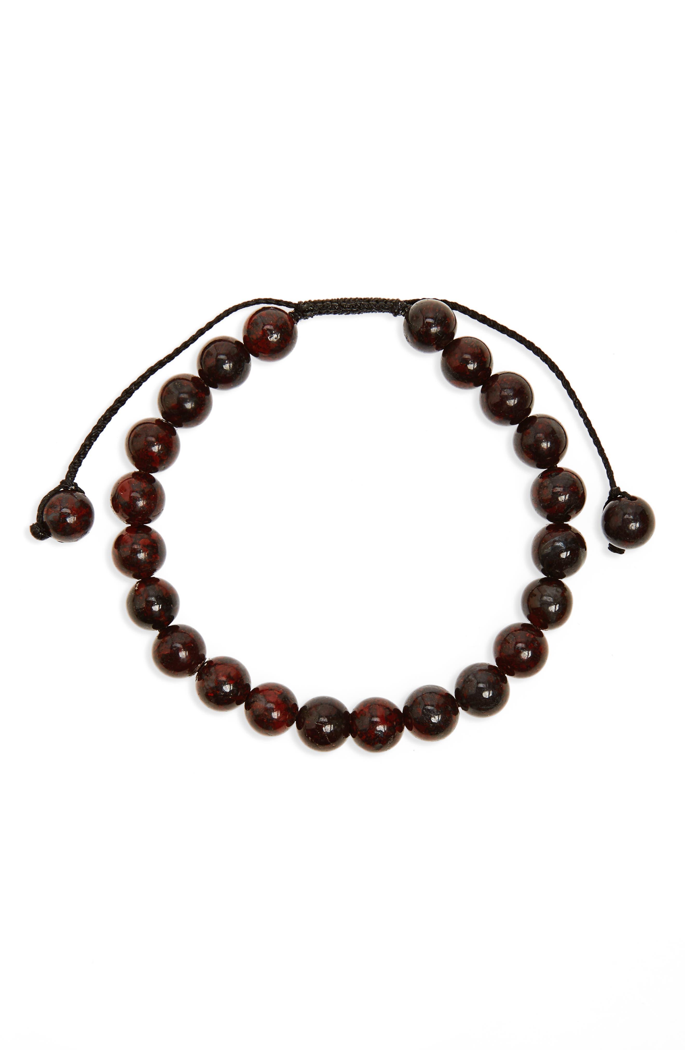 Link Up Jasper Bead Bracelet