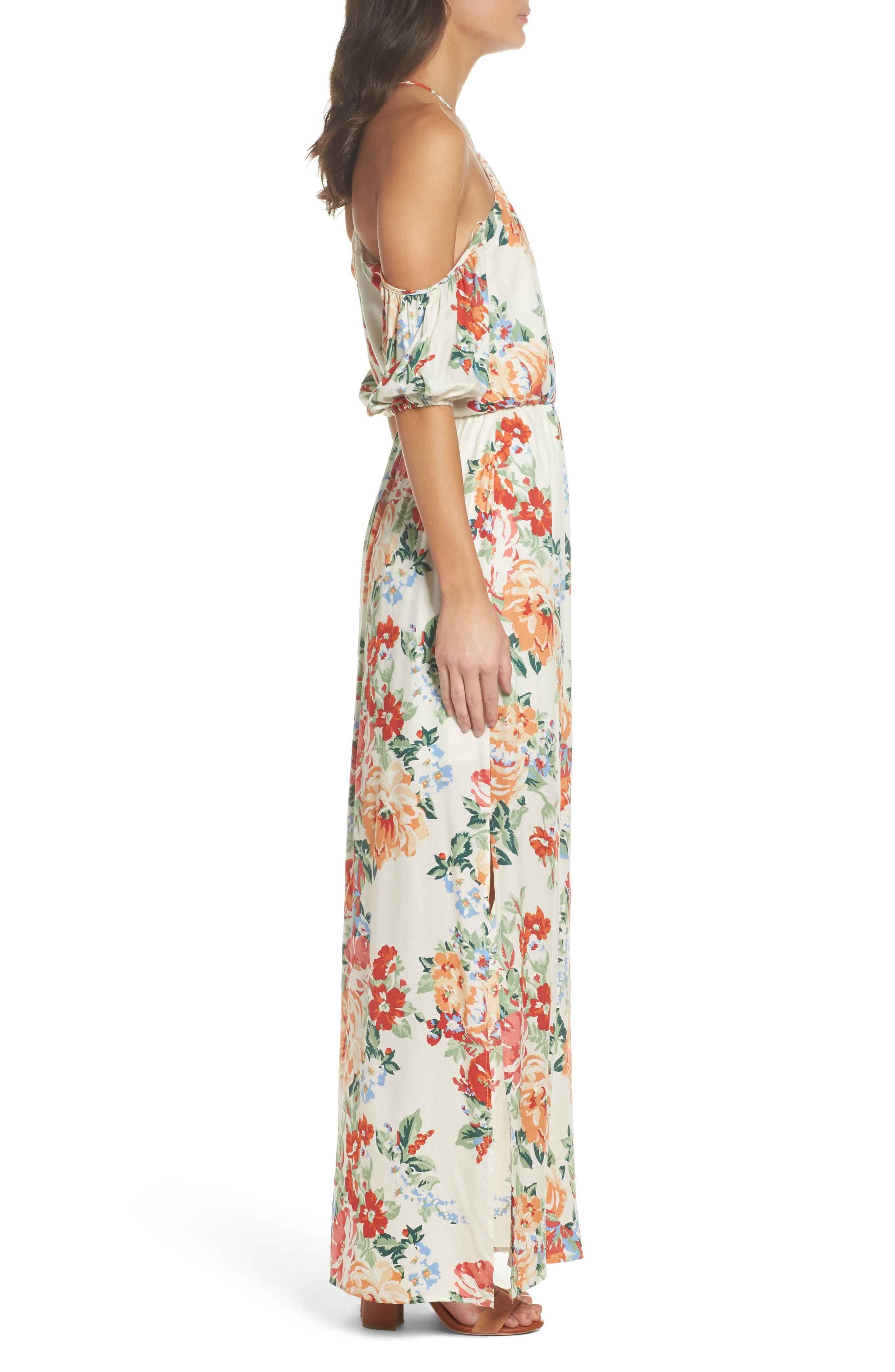 Alternate Image 3  - Charles Henry Cold Shoulder Blouson Dress (Regular & Petite)