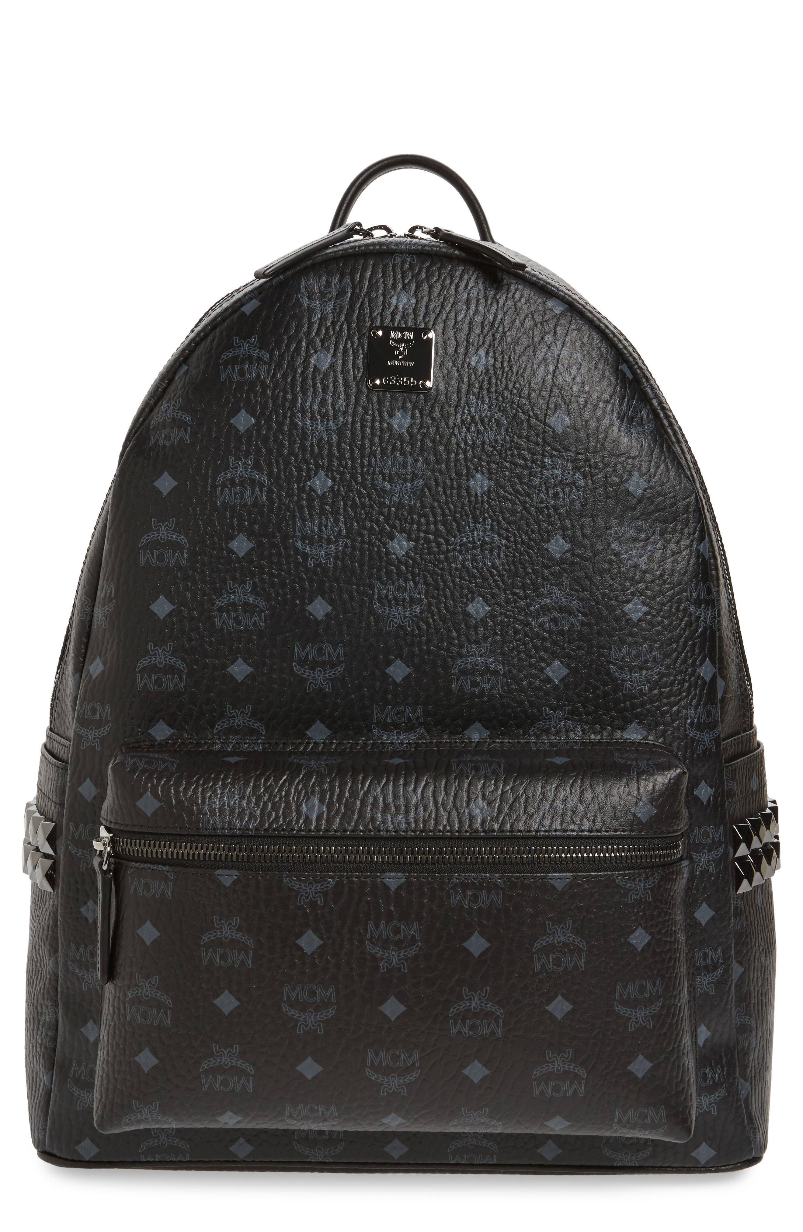 MCM Large Stark Studded Side Backpack