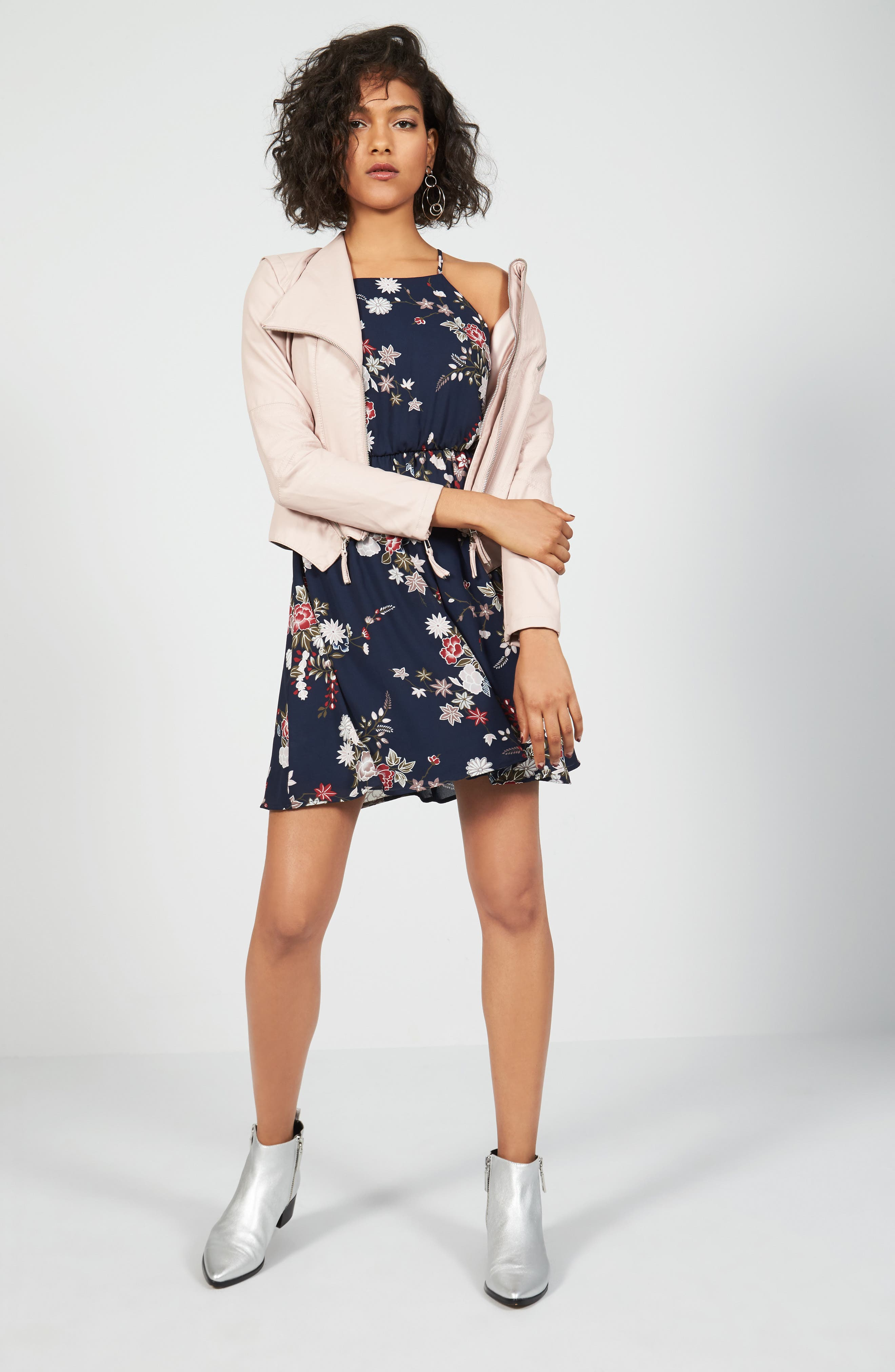 BLANKNYC Jacket & Lush Dress Outfit with Accessories