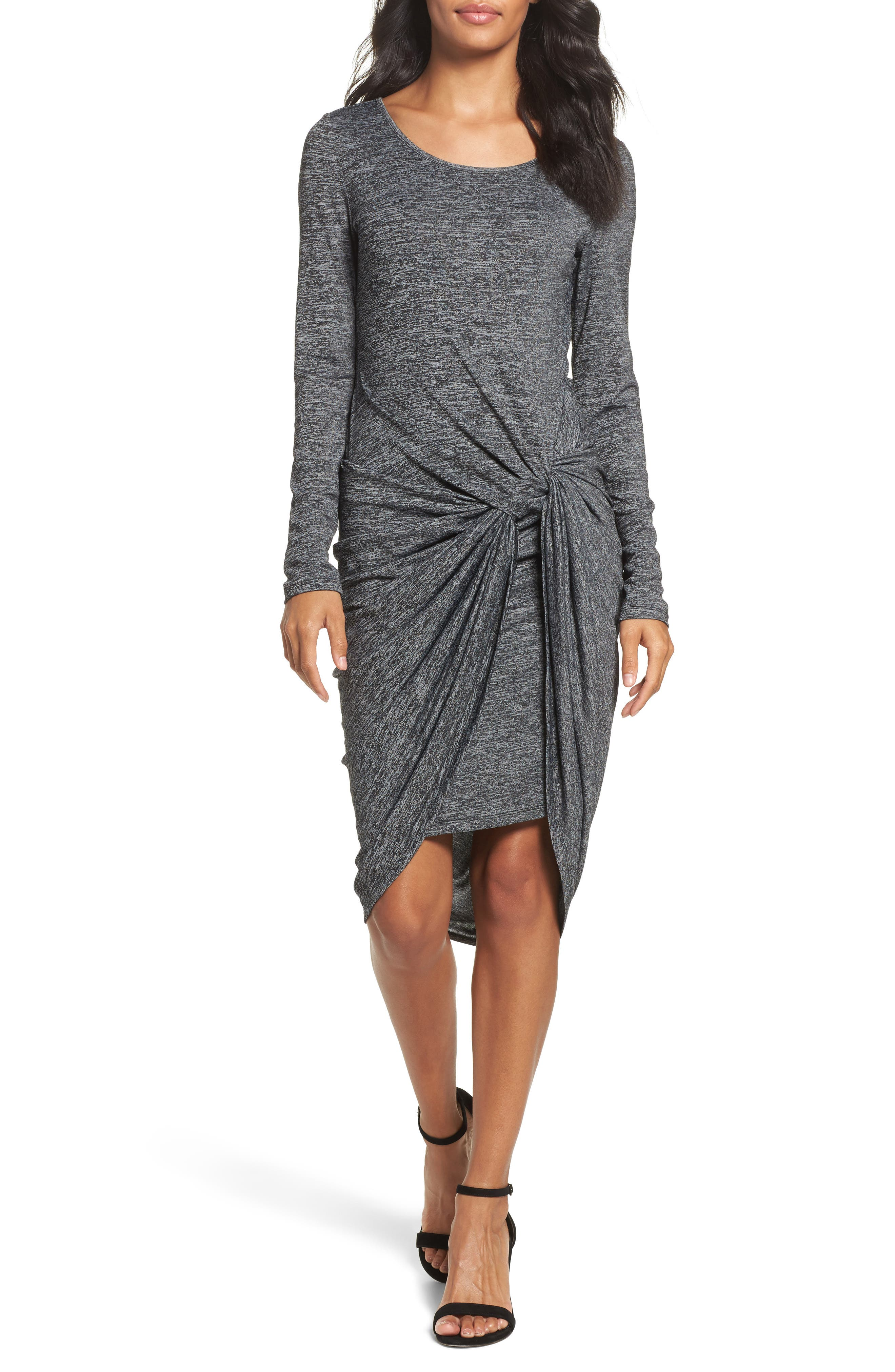 Adrianna Papell Jaspee Knot Midi Dress