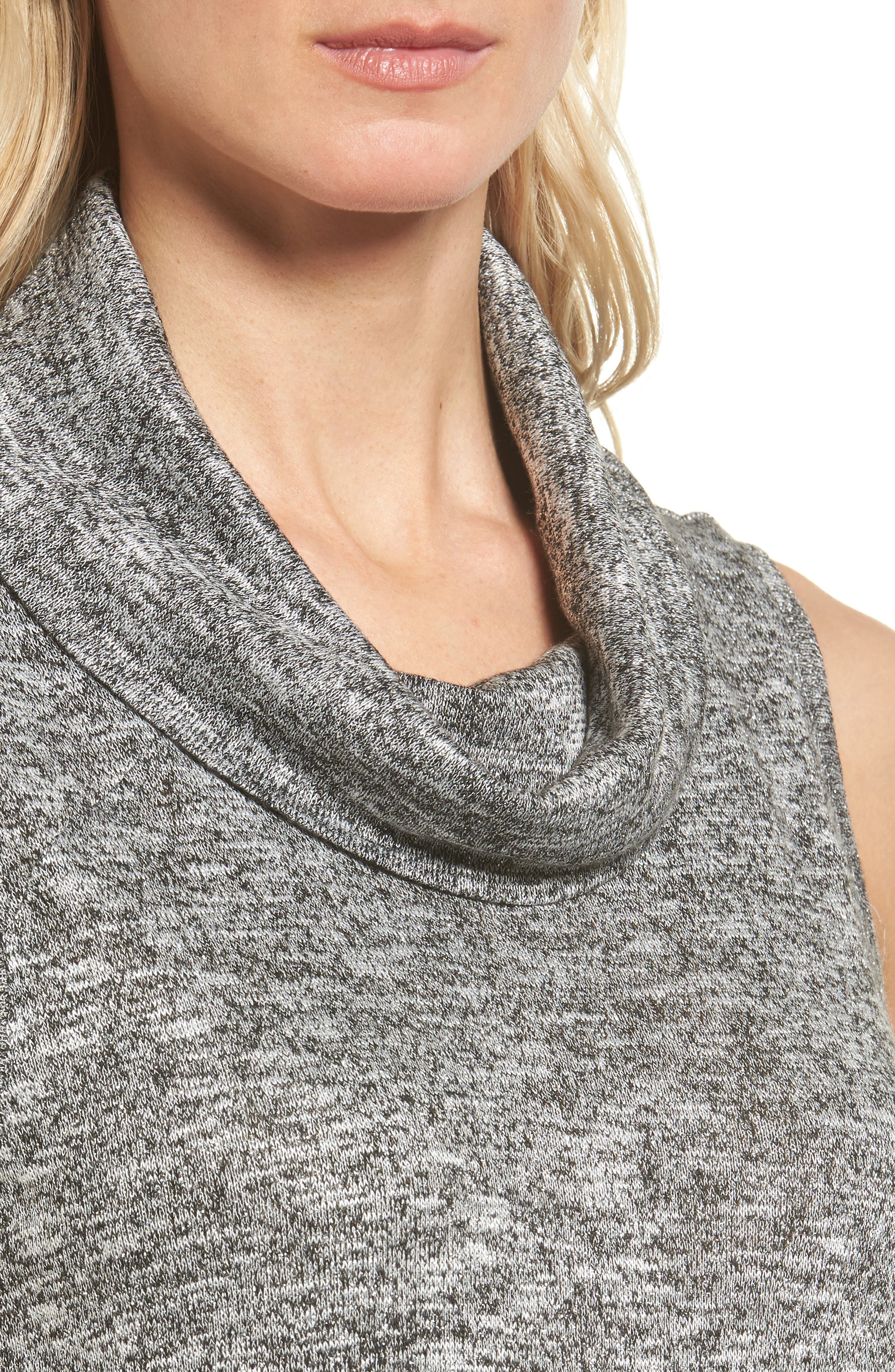 Alternate Image 4  - Two by Vince Camuto Metallic Knit Cowl Neck Top