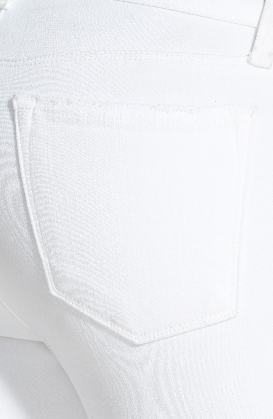 Alternate Image 4  - J Brand Low Rise Crop Jeans (Demented White Distressed)