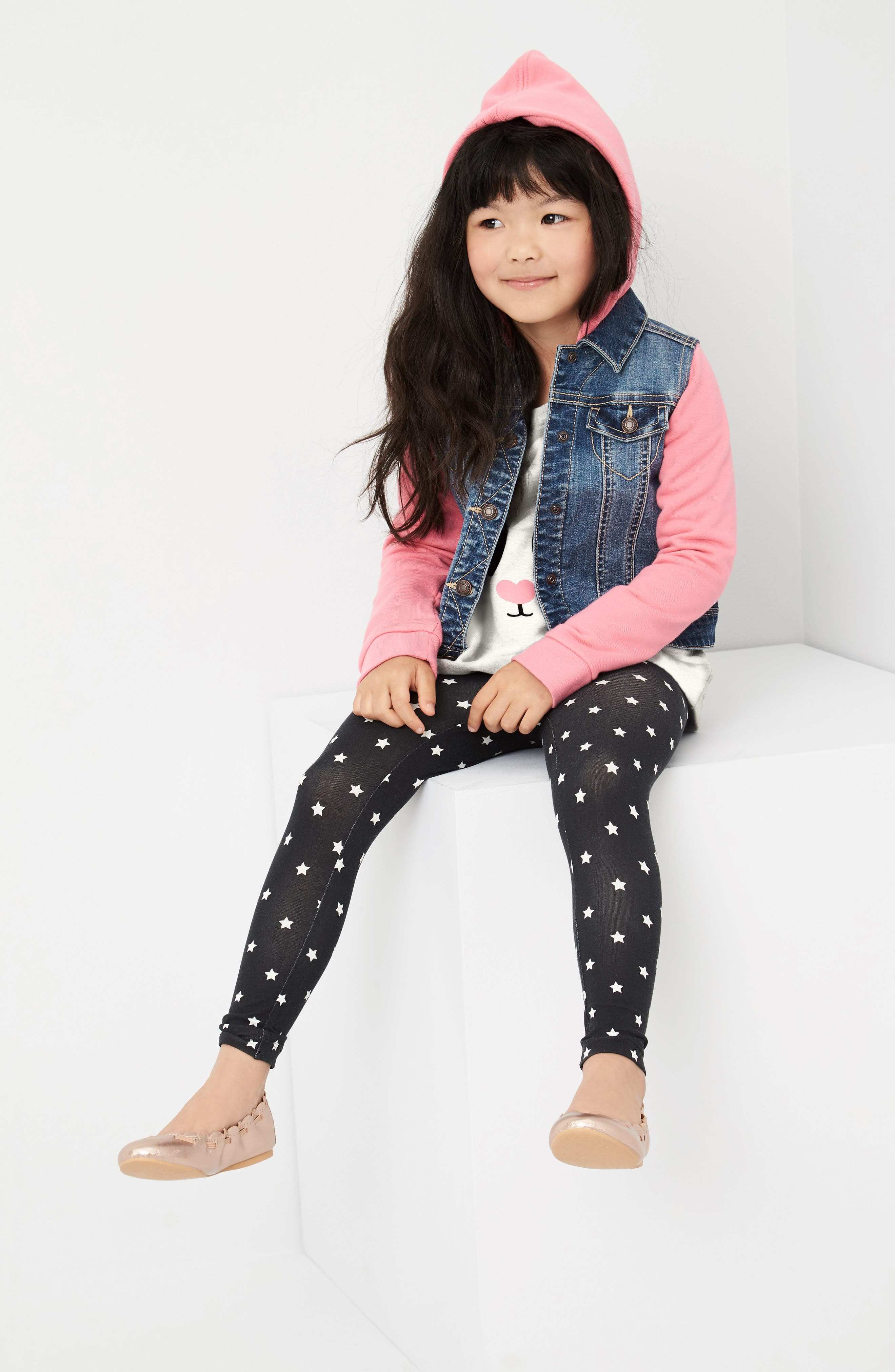 Tucker + Tate Jacket, Tunic & Leggings Outfit with Accessories (Toddler Girls, Little Girls & Big Girls)