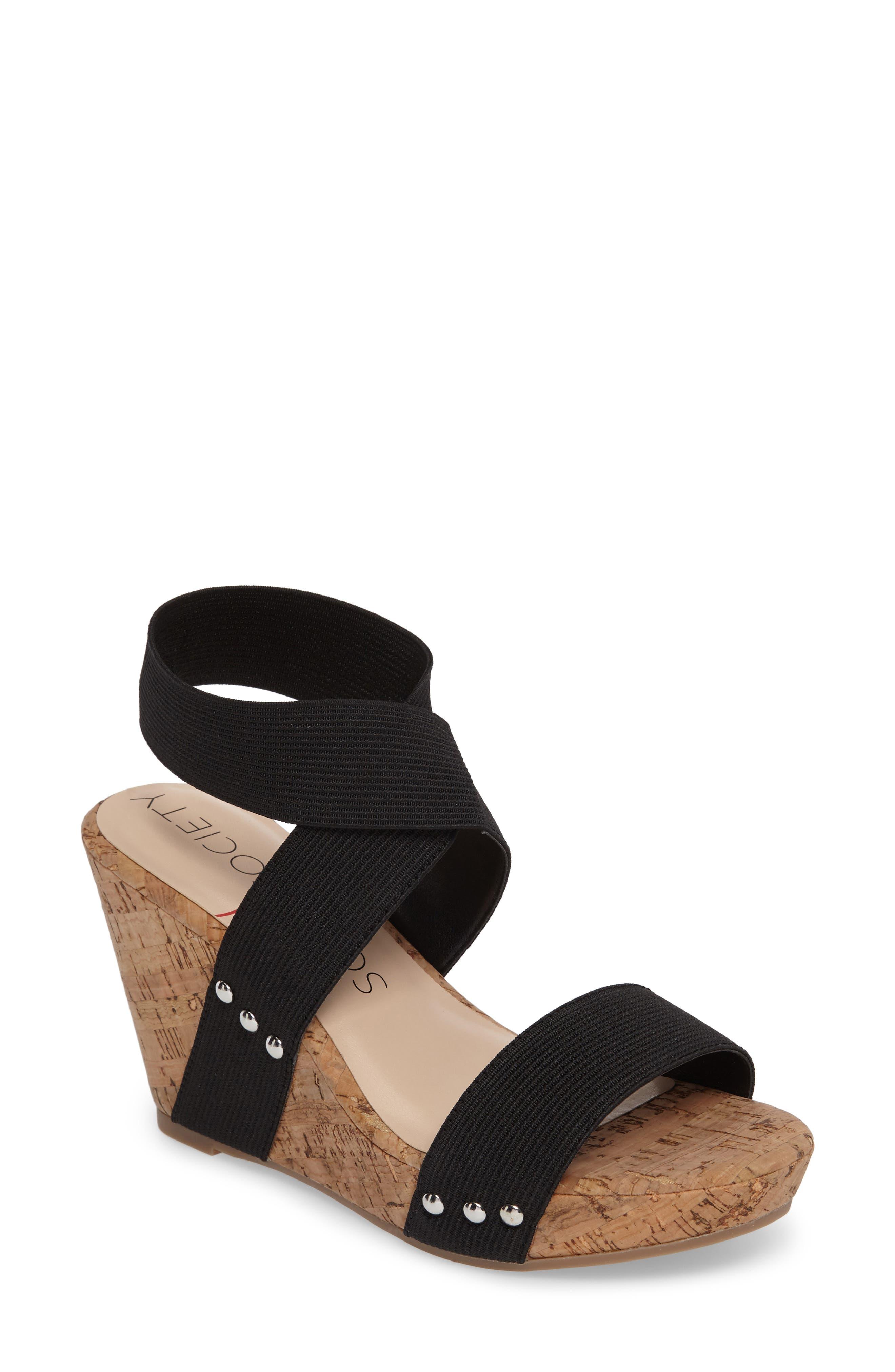 Sole Society Analisa Platform Wedge Sandal (Women)