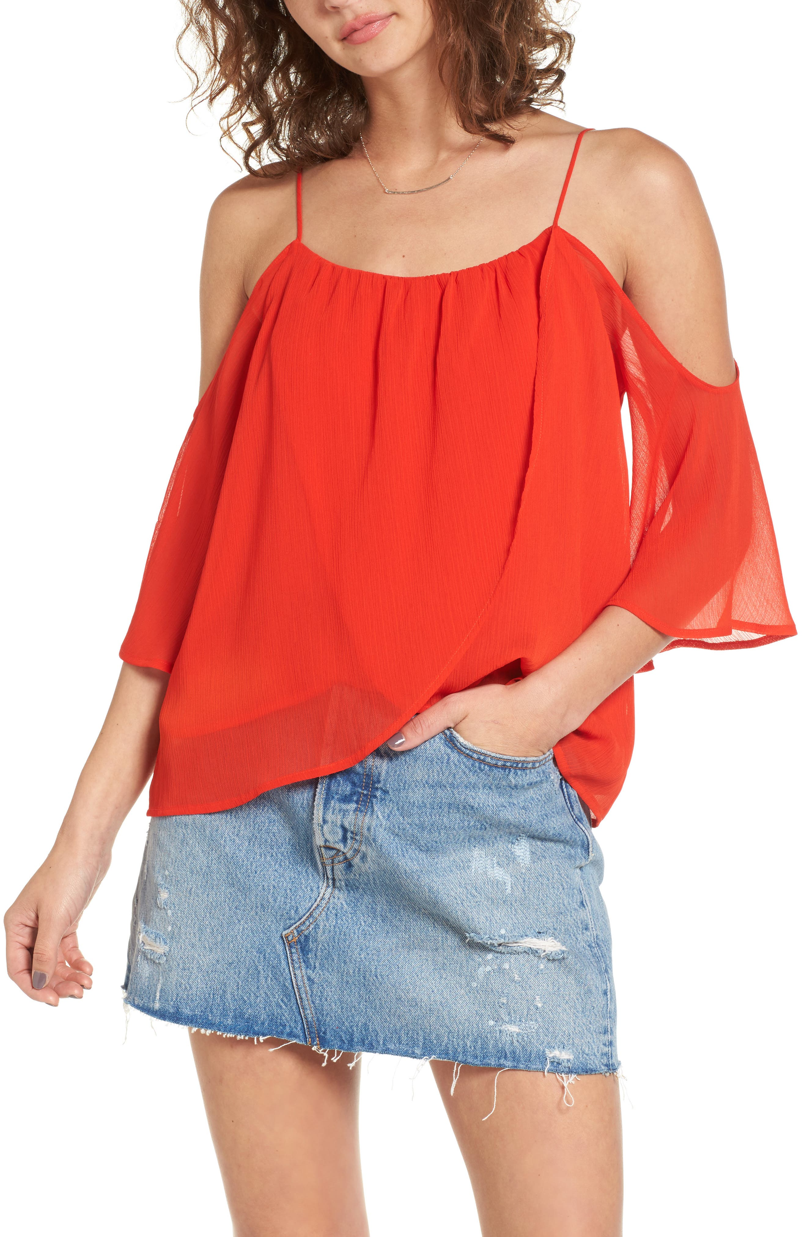 Lush Layered Cold Shoulder Top