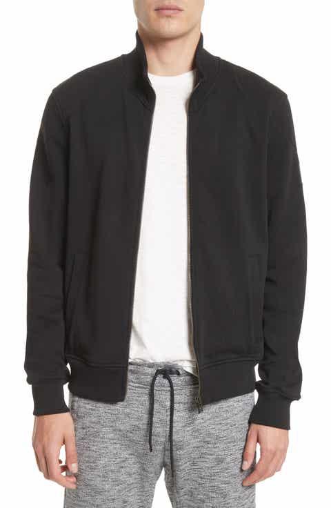 Belstaff Staplefield Mock Neck Full Zip Sweater