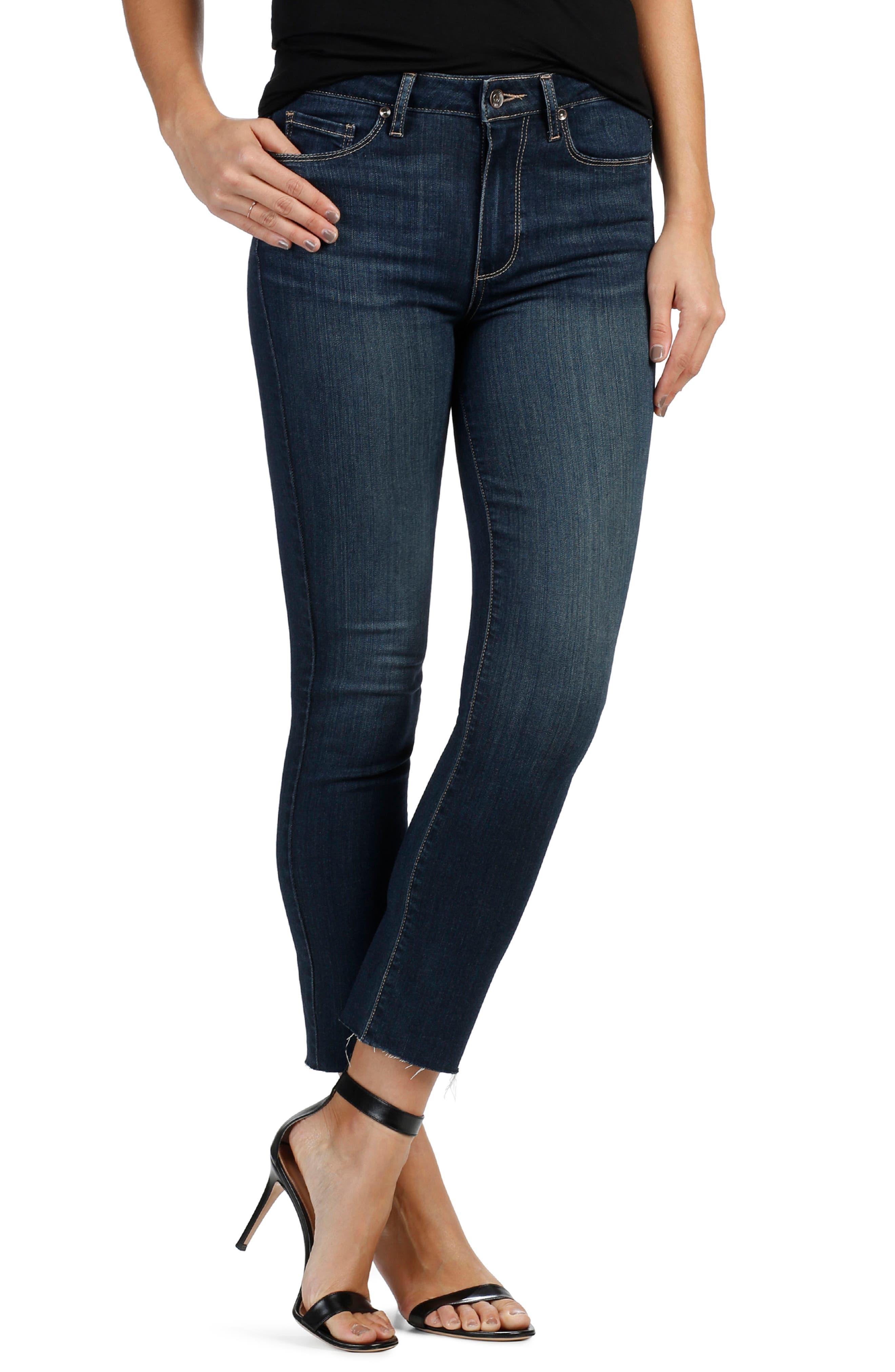 PAIGE Transcend - Jacqueline High Waist Straight Leg Jeans (Drift)