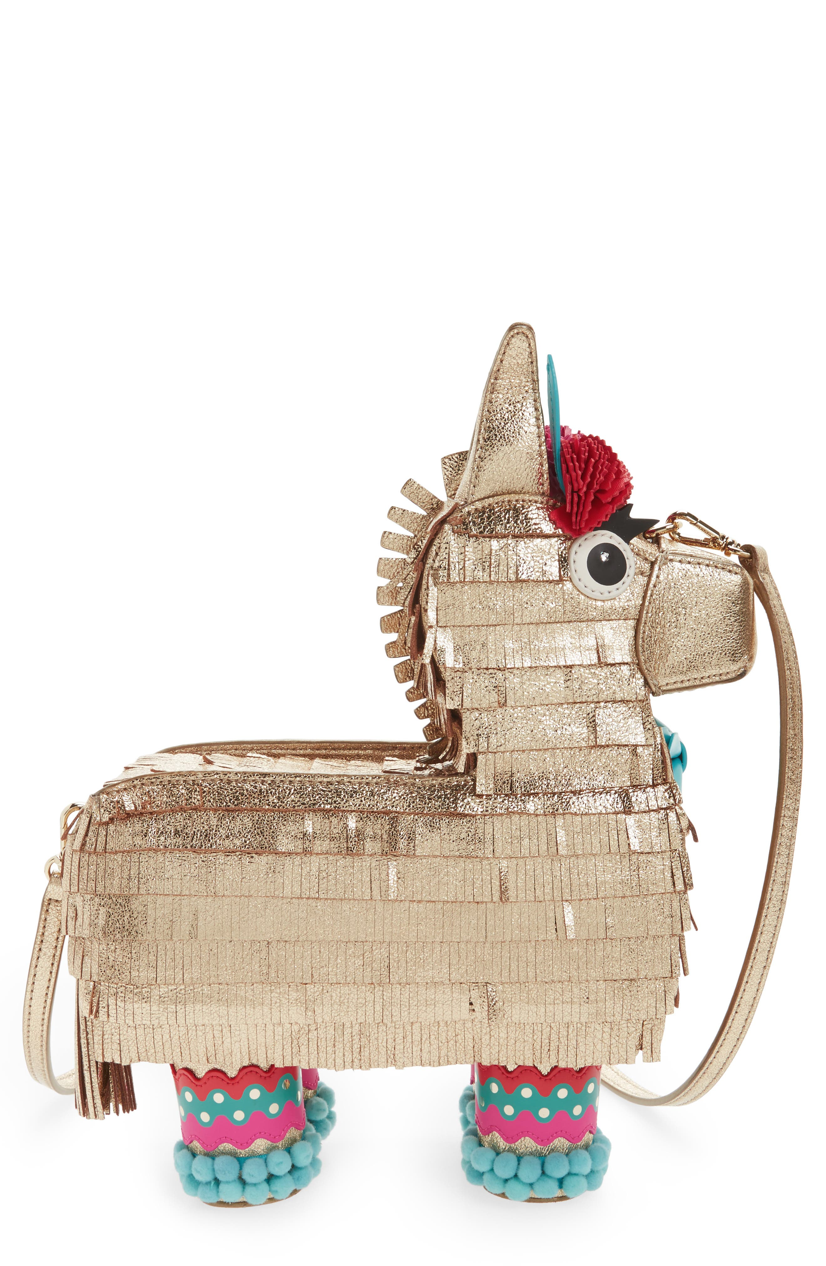 kate spade new york haute stuff penny the piñata leather shoulder bag