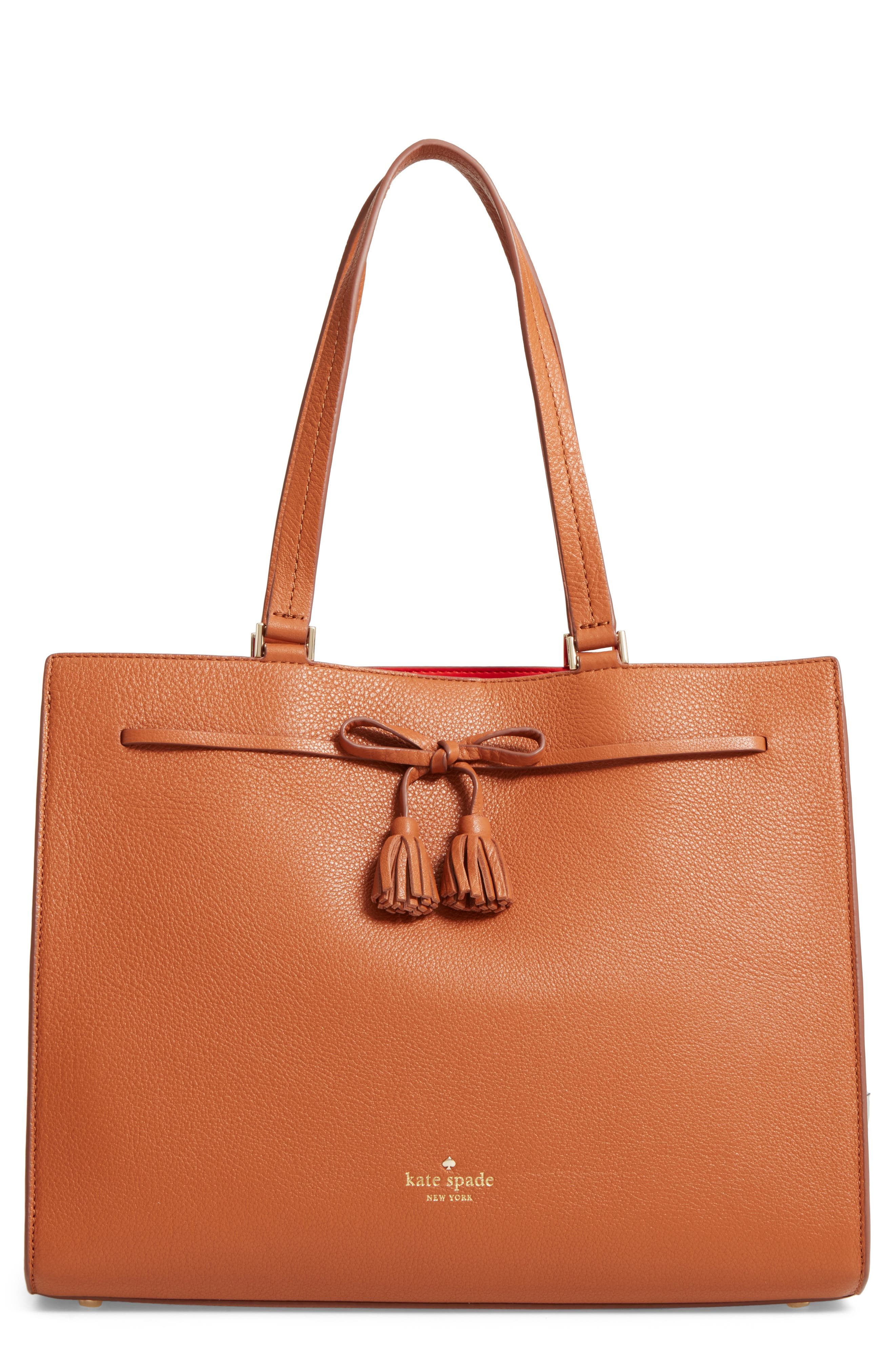 kate spade new york hayes street large isobel leather tote