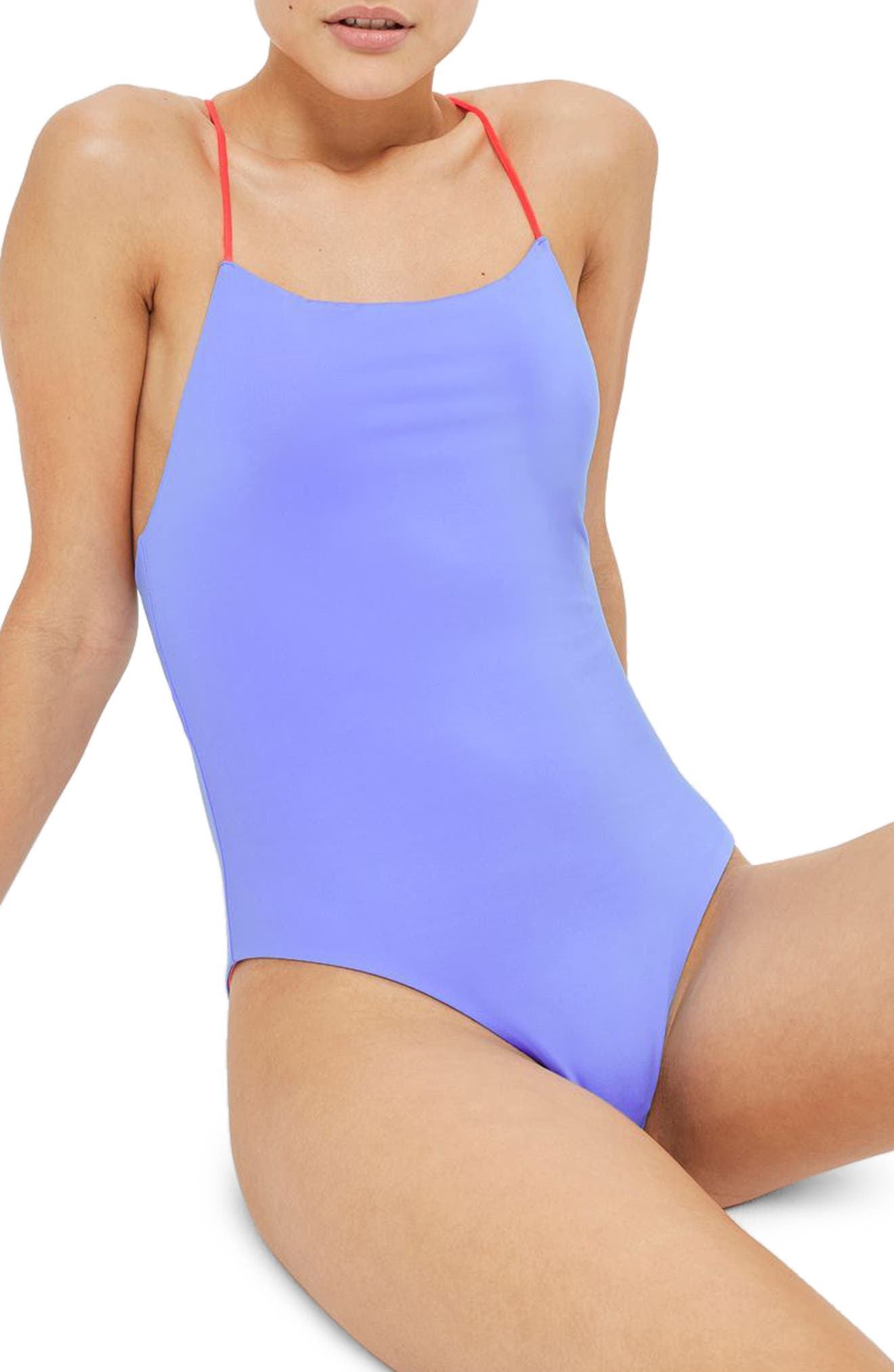 Topshop Reversible One-Piece Swimsuit