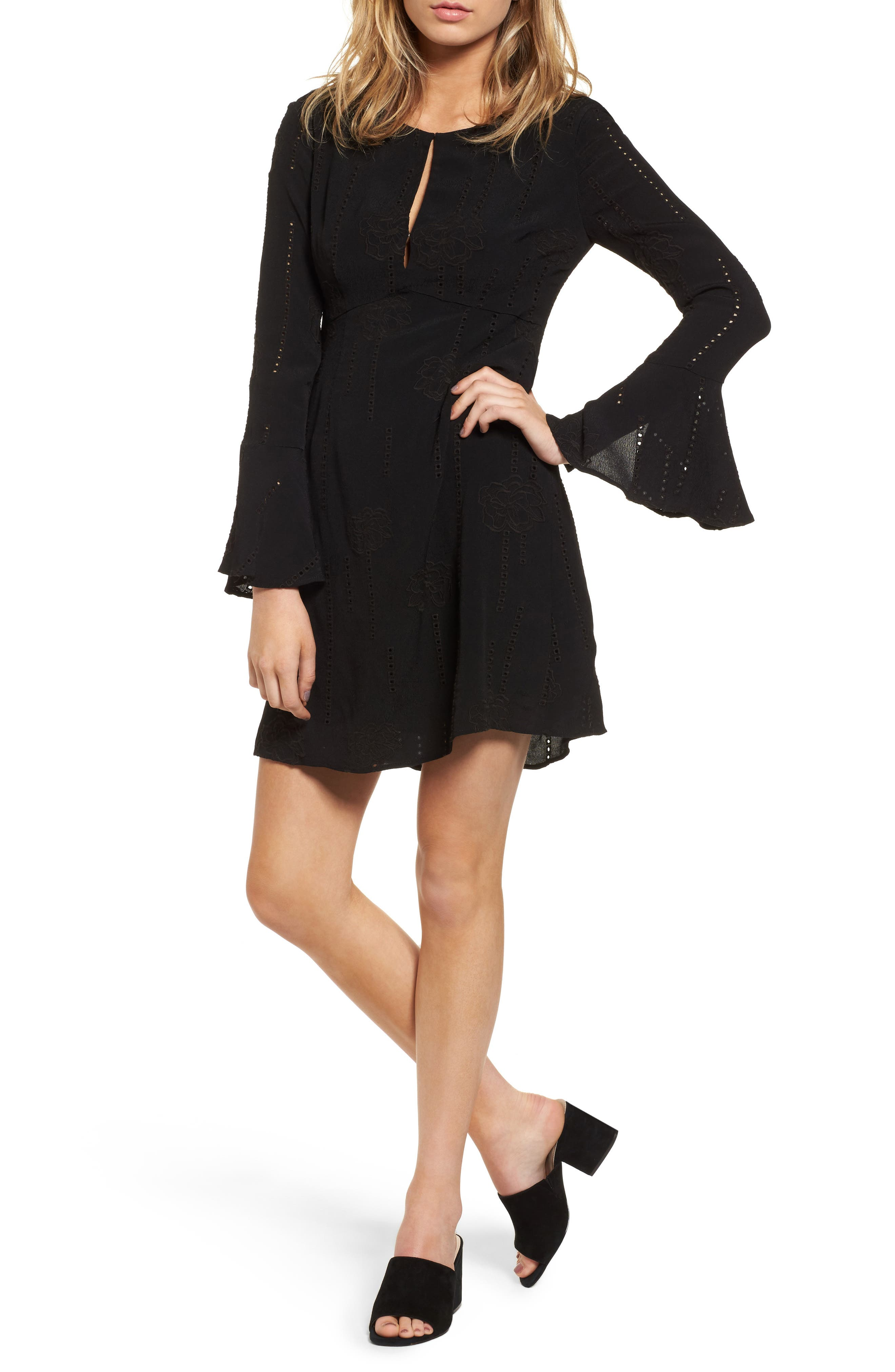 ASTR the Label Isadora Bell Sleeve Dress