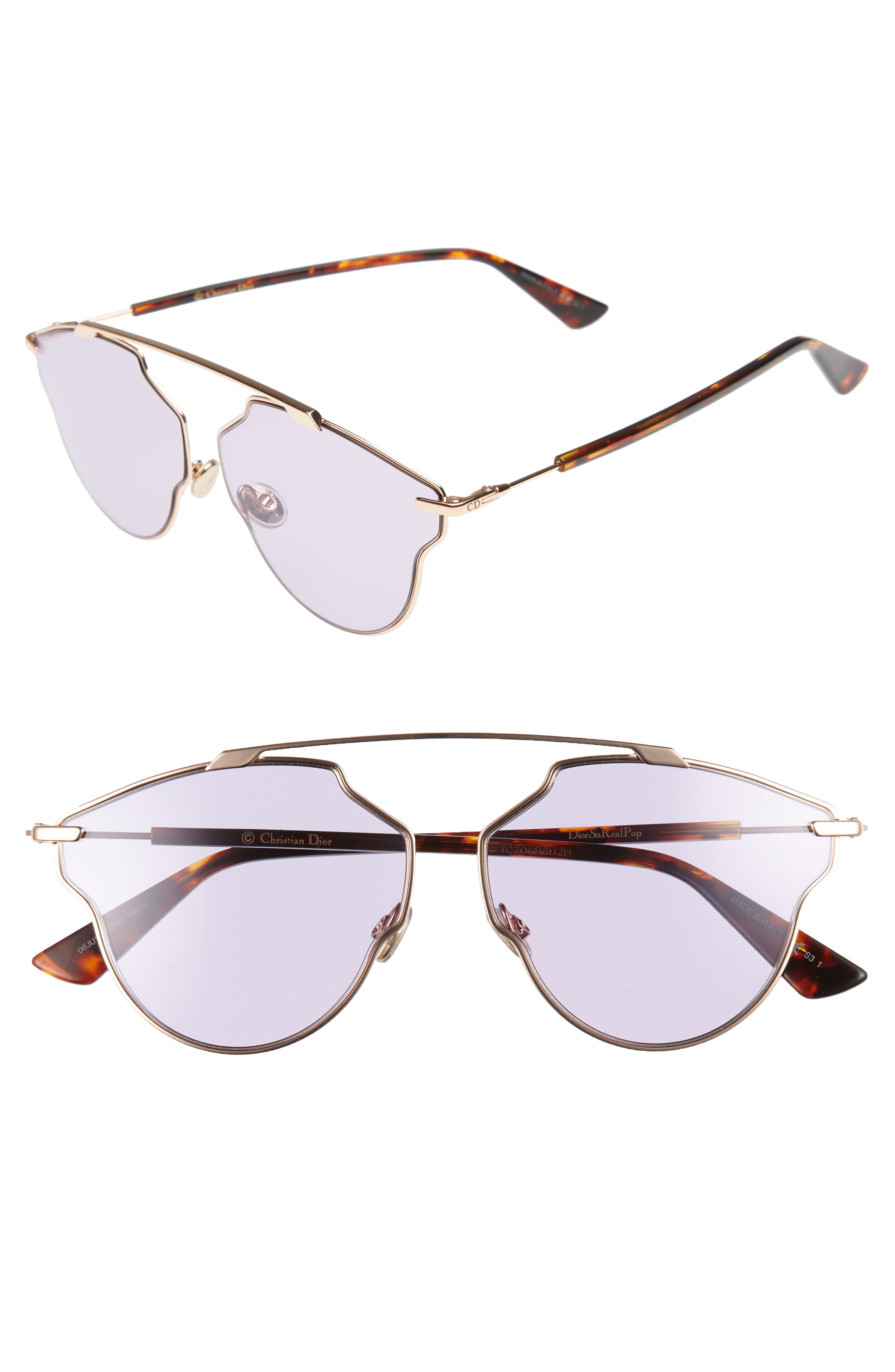 Alternate Image 1 Selected - Christian Dior So Real Pop 59mm Sunglasses