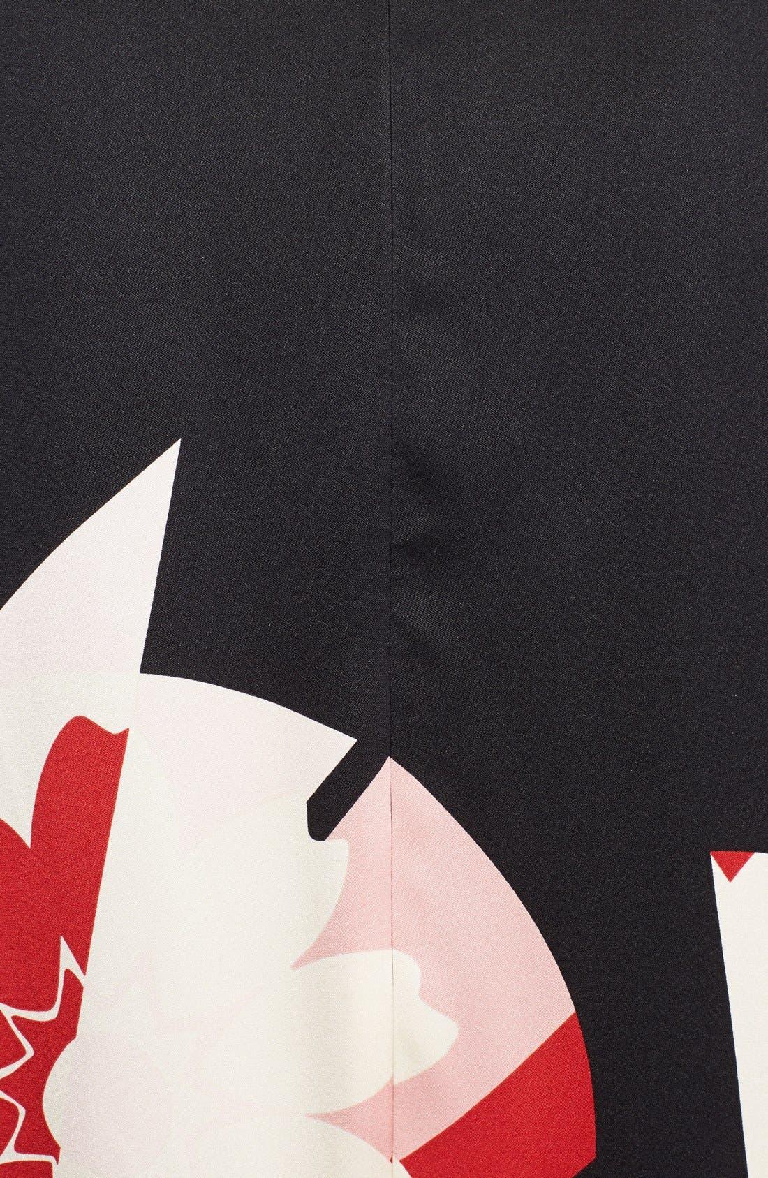 Alternate Image 4  - Alexander McQueen Print Satin Caftan Dress