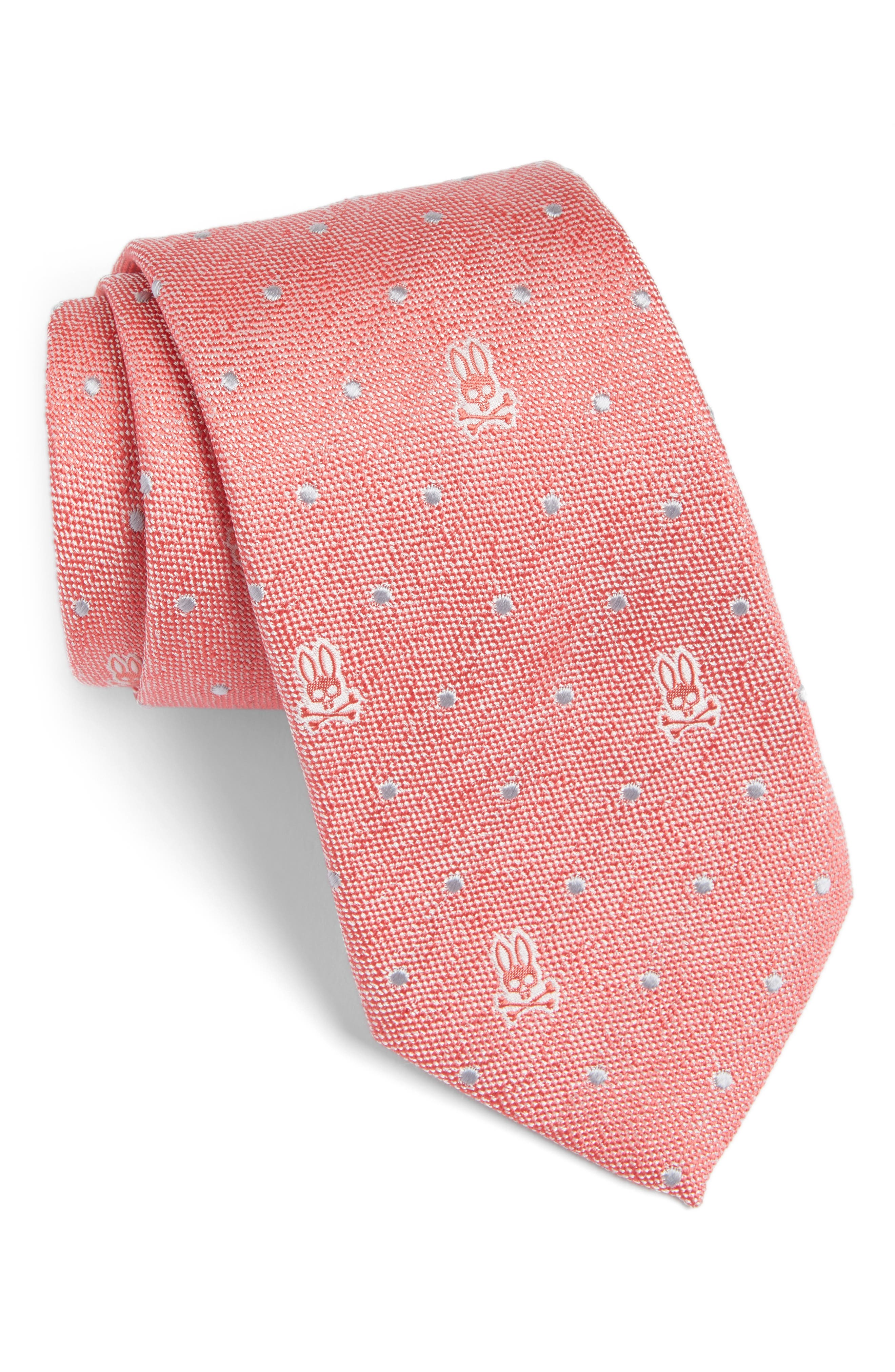 Psycho Bunny Bunny Dot Silk Tie