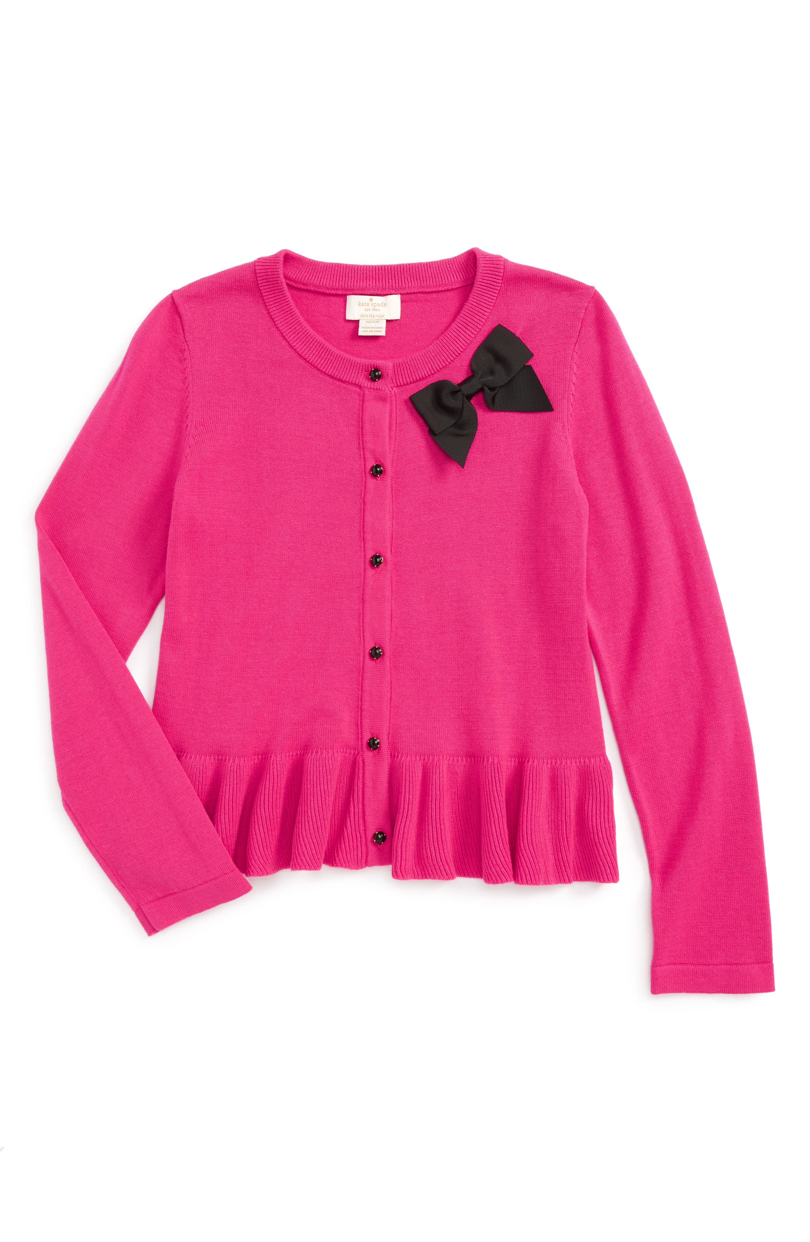 kate spade new york peplum cardigan (Big Girls)